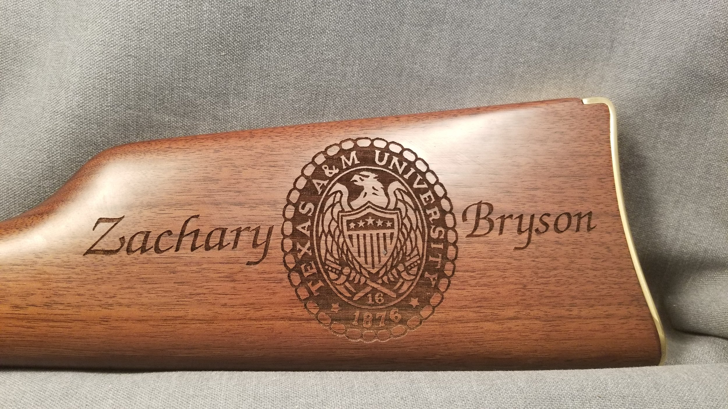 Custom Engraved Rifle - Personalized Rifle - Firearm Projects from Engrave It Houston
