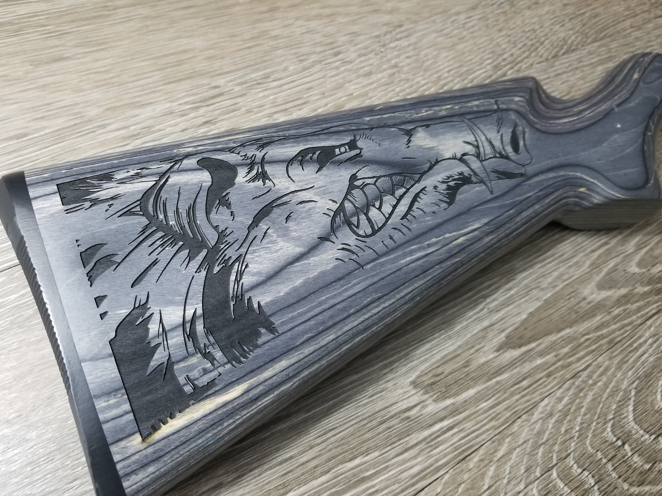 Custom Engraved Rifle Stock - Firearm Projects from Engrave It Houston
