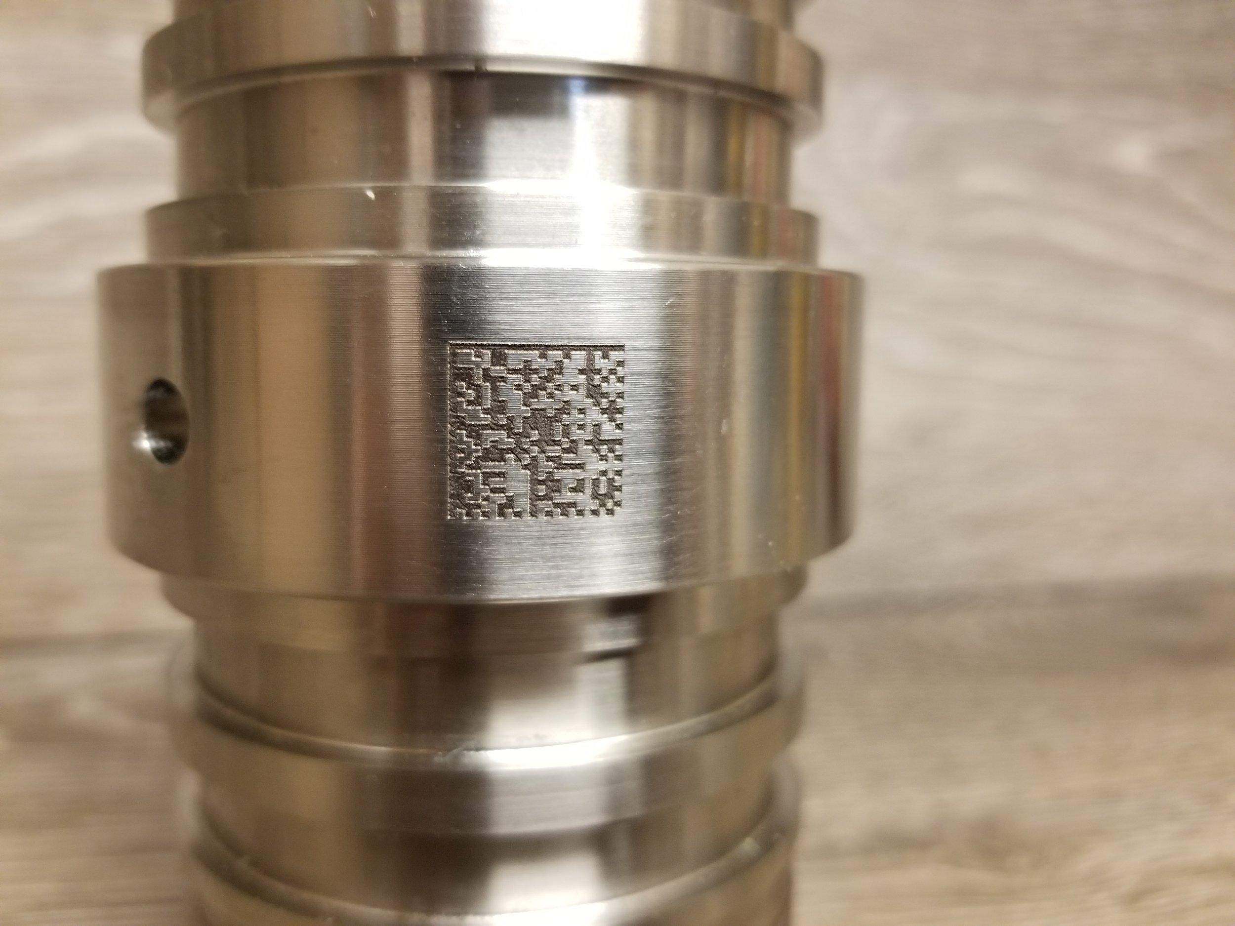 QR Code Engraving - Data Matrix Engraving - Part Labeling - Part Engraving - Industrial Projects from Engrave It Houston