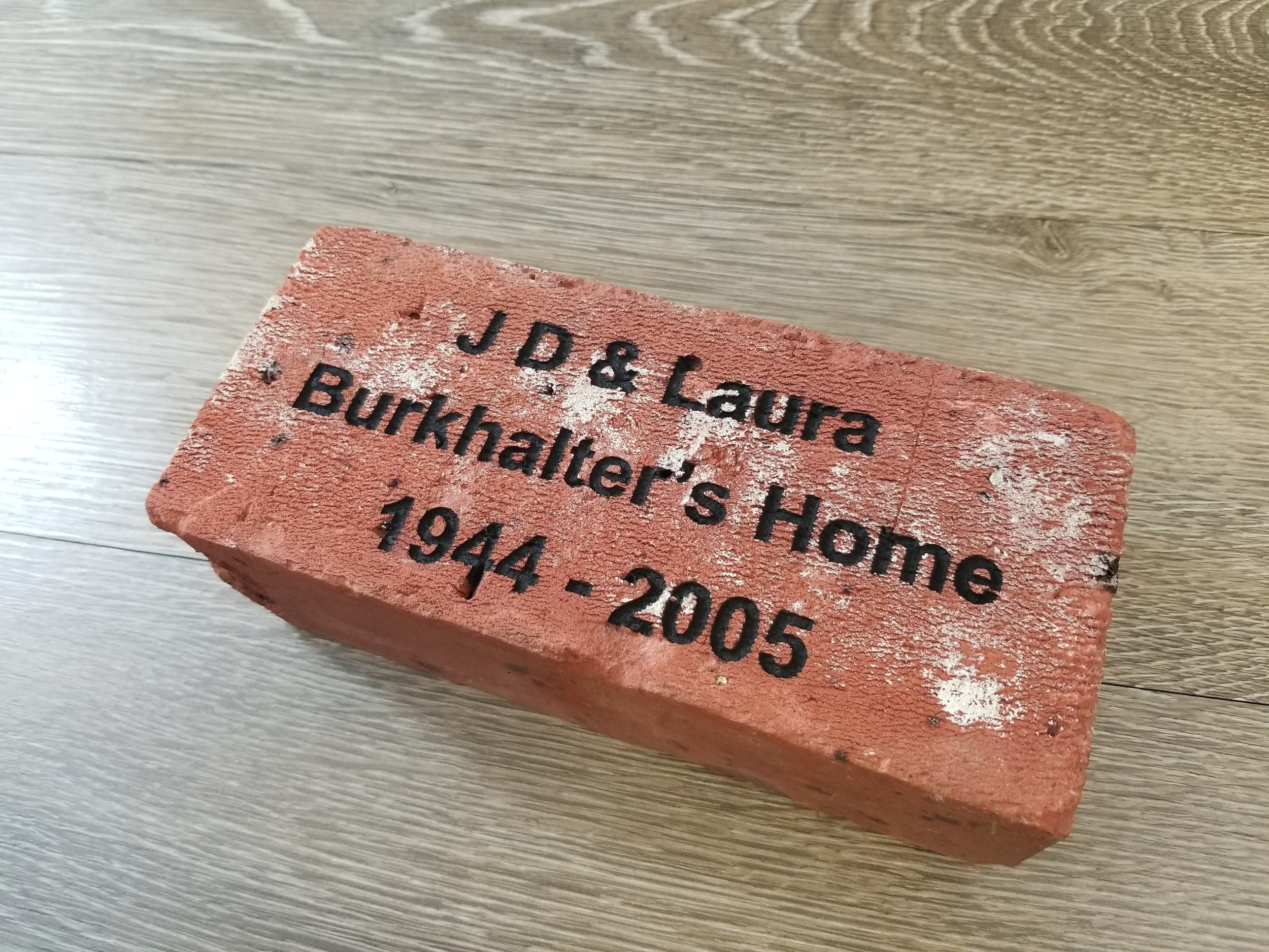 Copy of Engraved Brick - Custom Brick - Personalized Brick - Engraved Memorial Brick - Custom Memorial Brick - Personalized Memorial Brick - Engrave It Houston