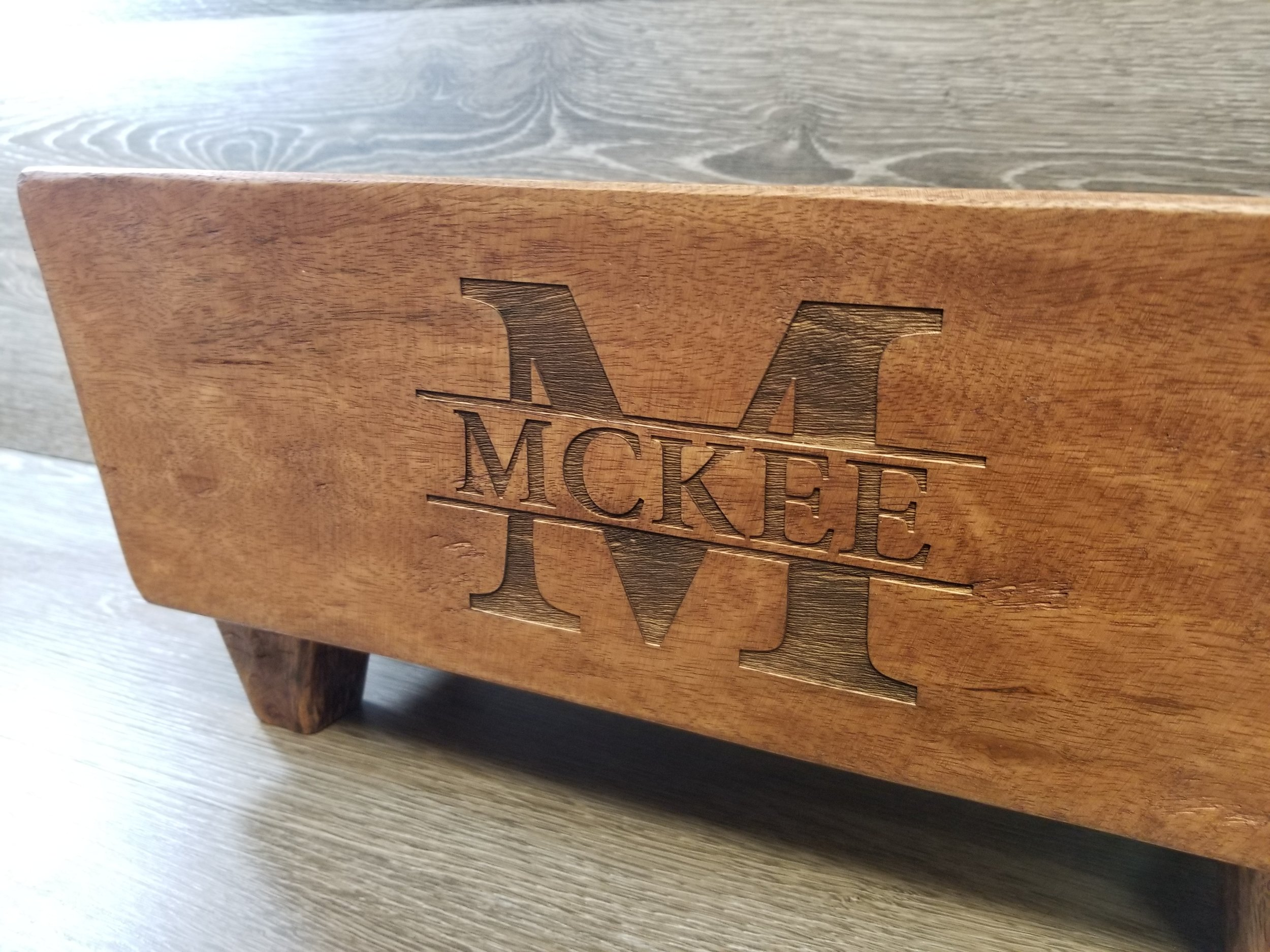 Copy of Engraved Wine Trough - Custom Wine Trough - Personalized Wine Trough - Wood Engraving - Custom Wood Burning - Custom Projects - Engrave It houston