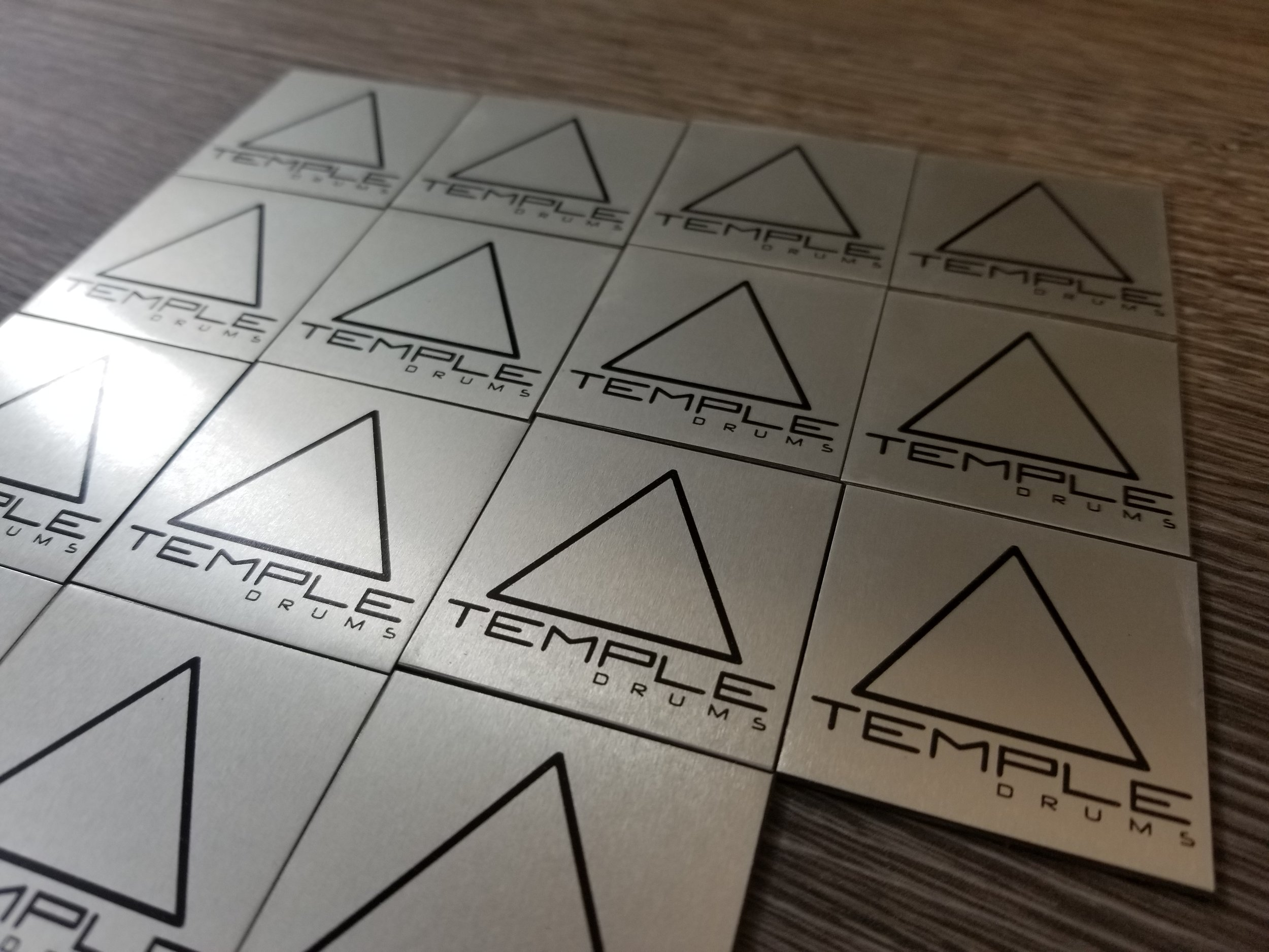 Custom Adhesive Tags - Industrial Adhesive Tags - Product Labeling - Custom Engraved Metal Tags - Engrave It Houston