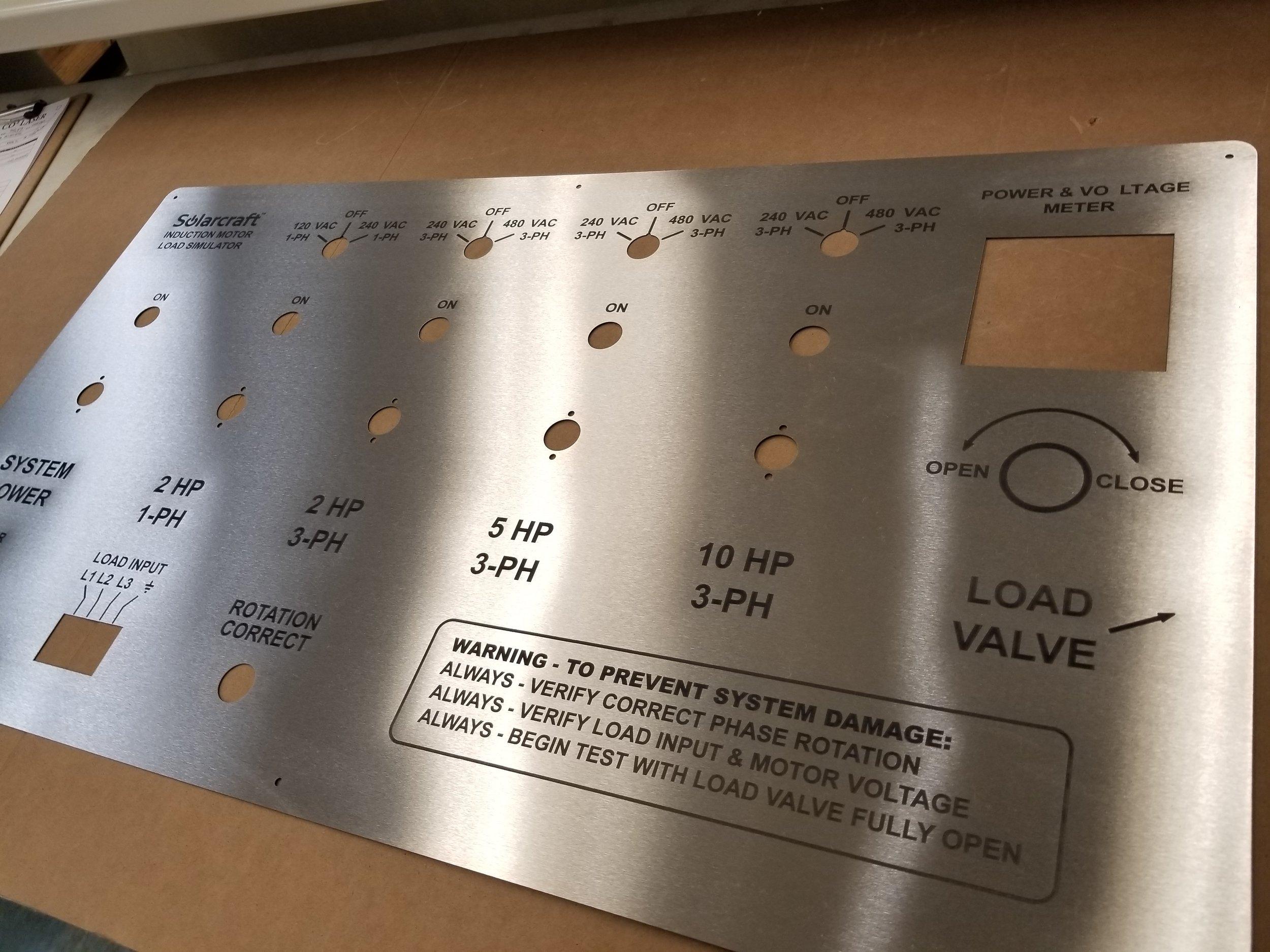 Custom Engraved Schematics - Laser Engraved Stainless Steel Schematic Panel - Engraved Panel - Stainless Steel Engraving - Schematic Engraving - Schematic Marking - Industrial Engraving