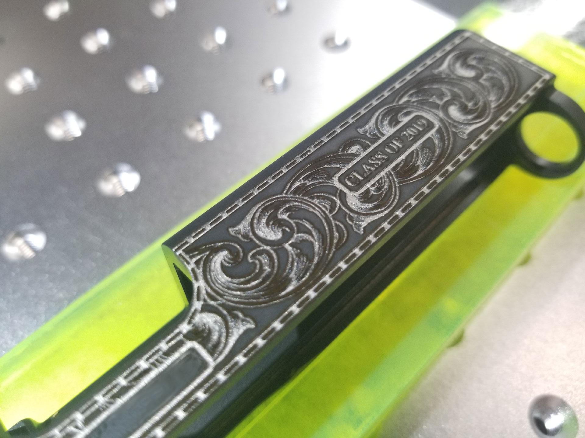 Pistol Slide Engraving - Glock Slide Engraving - Custom Slide Engraving - Custom Firearm Engraving - Engrave It Houston