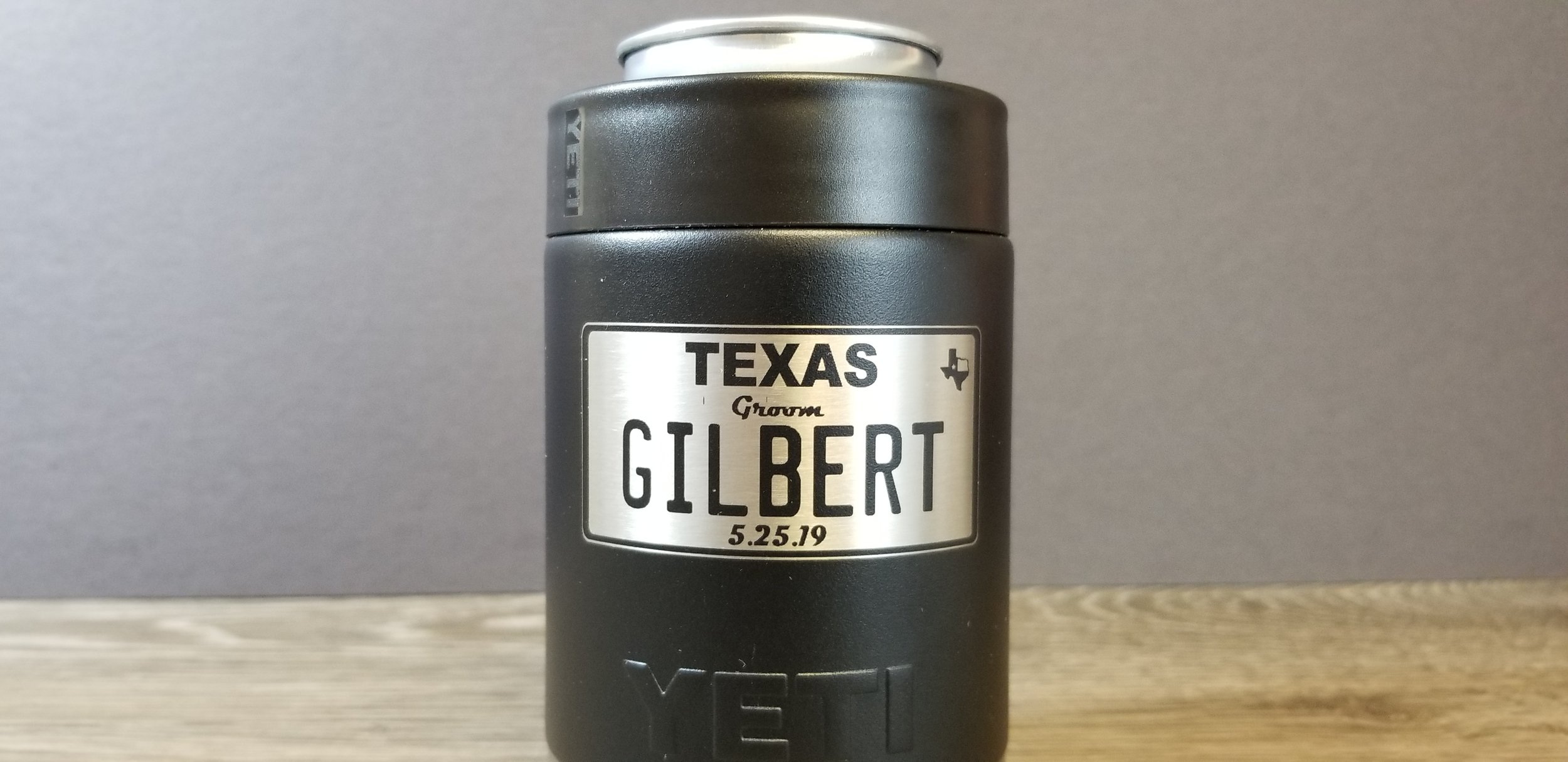 Engraved Yeti Koozie - Engraved Stainless Steel Koozie - Engraved Yeti - Engraved Yeti Can Holder - Tumbler Engraving Services - Engrave It Houston