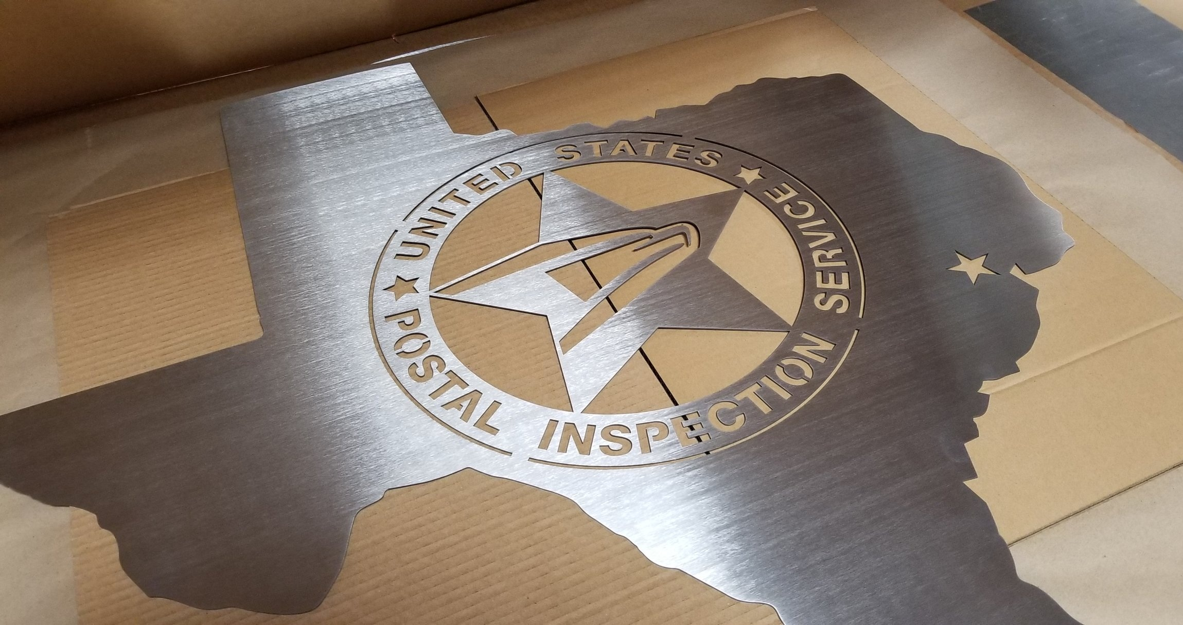 Custom Laser Cut Stainless Steel Sign - Branded Laser Cut Stainless Steel Sign - Metal Signage - Engrave It Houston