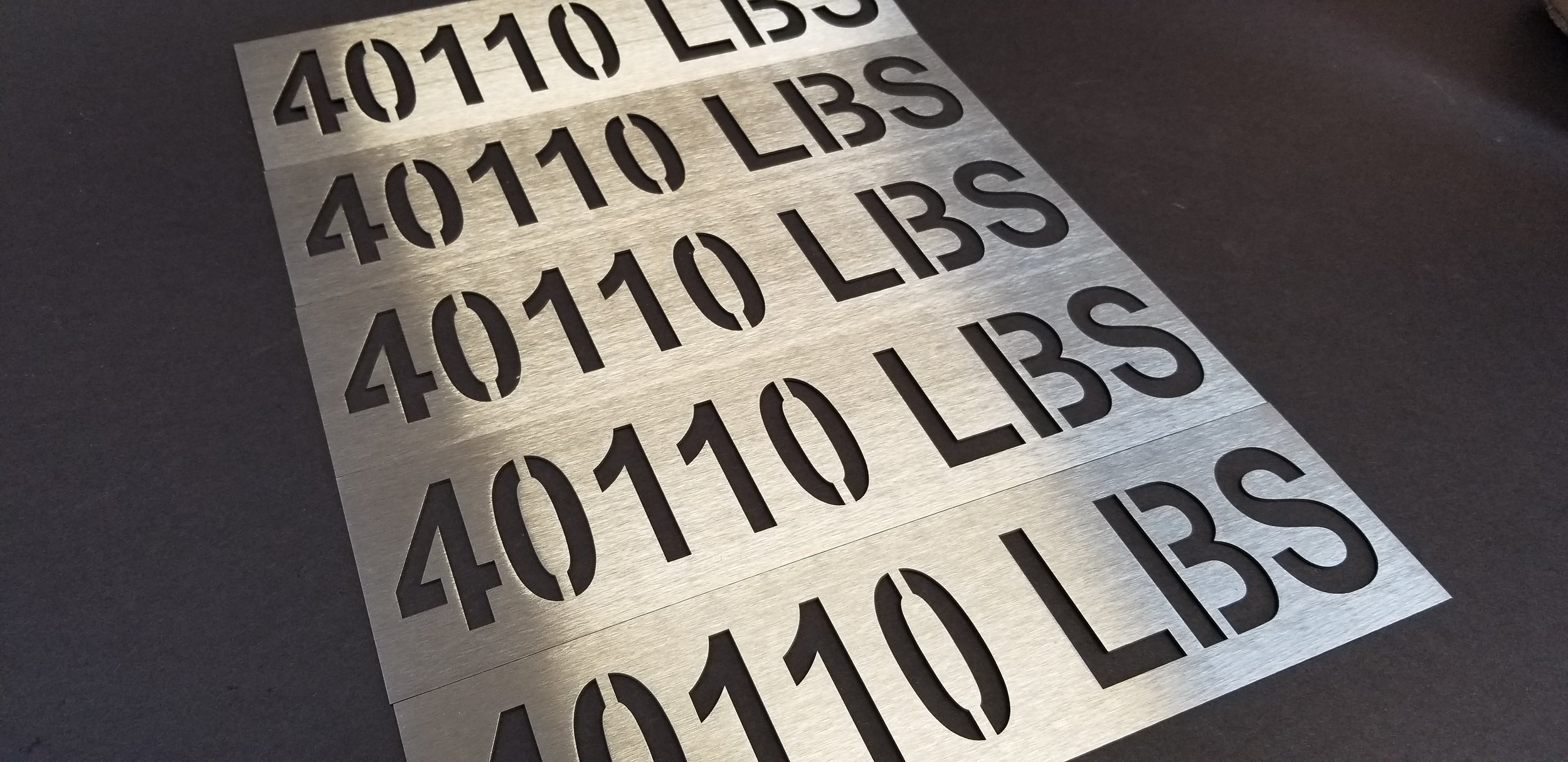 Custom Laser Cut Stainless Steel Signage - Laser Cut Metal Plates - Laser Cut Metal Tags - Industrial Engraving Services - Engrave It Houston