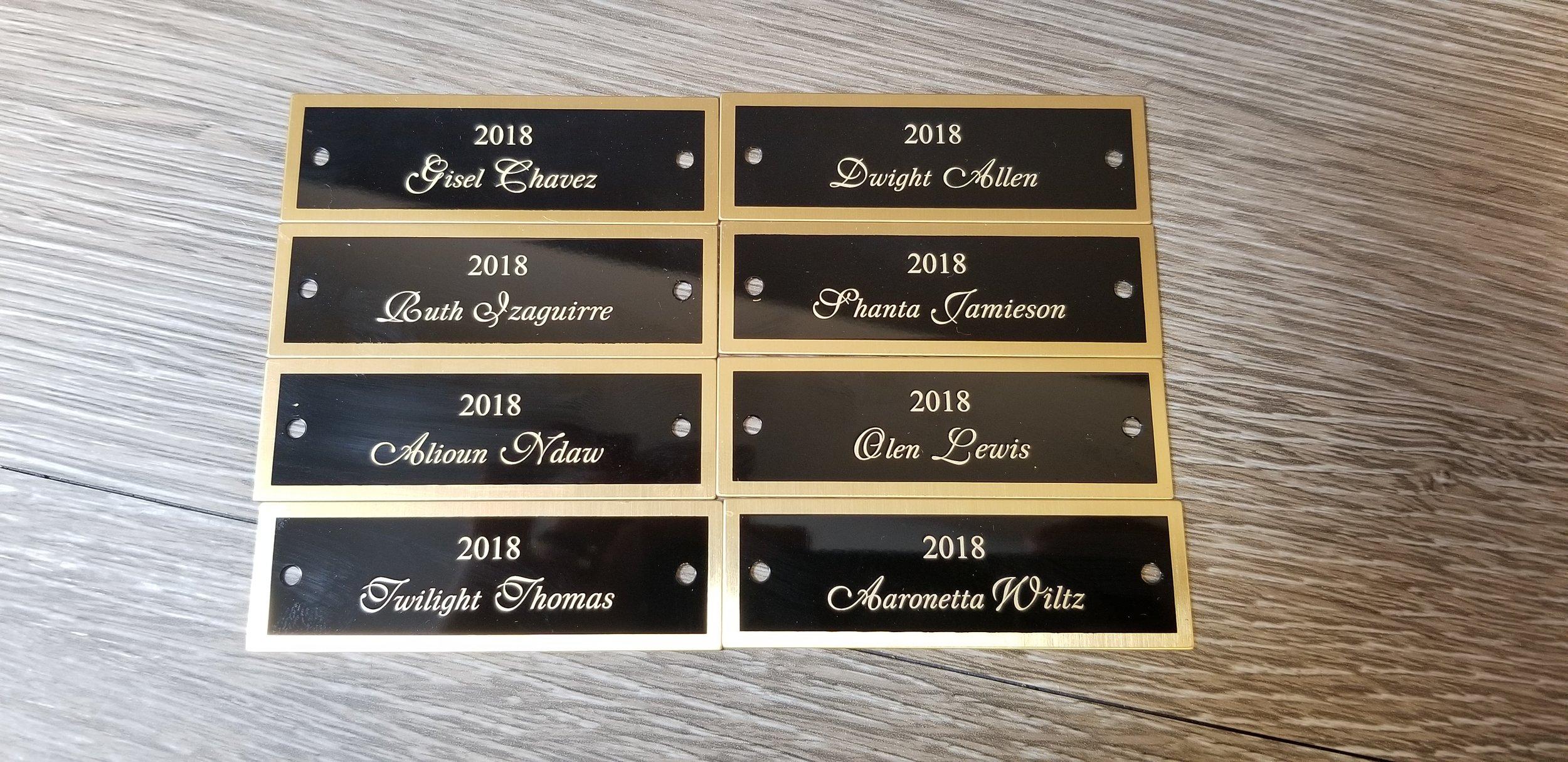 Custom Laser Engraved Nameplates - Custom Metal Nameplates - Laser Engraved Metal Tags - Engrave It  Houston