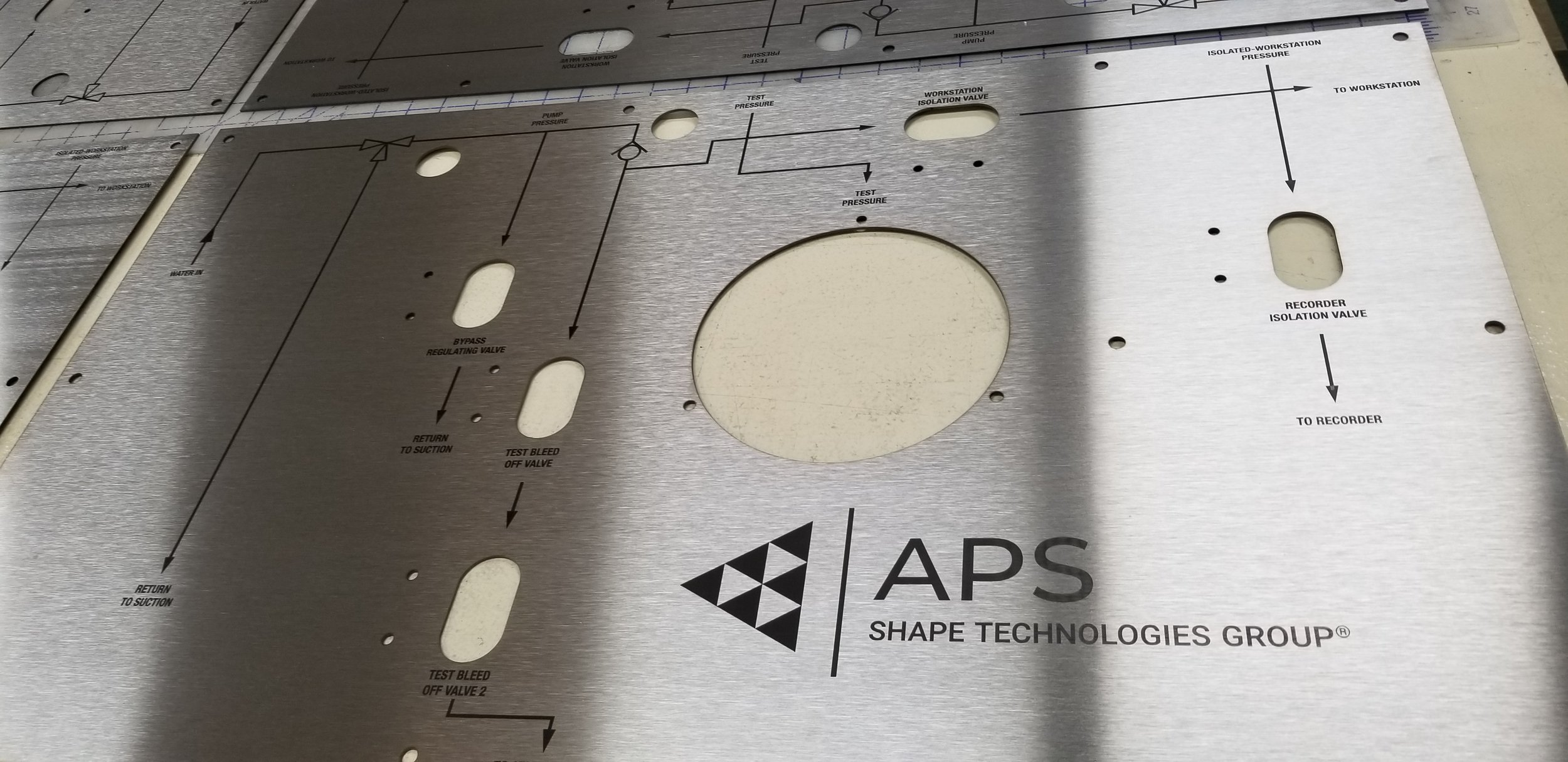 Engraved Metal Plate - Engraved Metal Sign - Engraved Stainless Steel Panel - Engraved Stainless Steel Plate - Engraved Stainless Steel Sign - Industrial Engraving Services - Engrave It Houston
