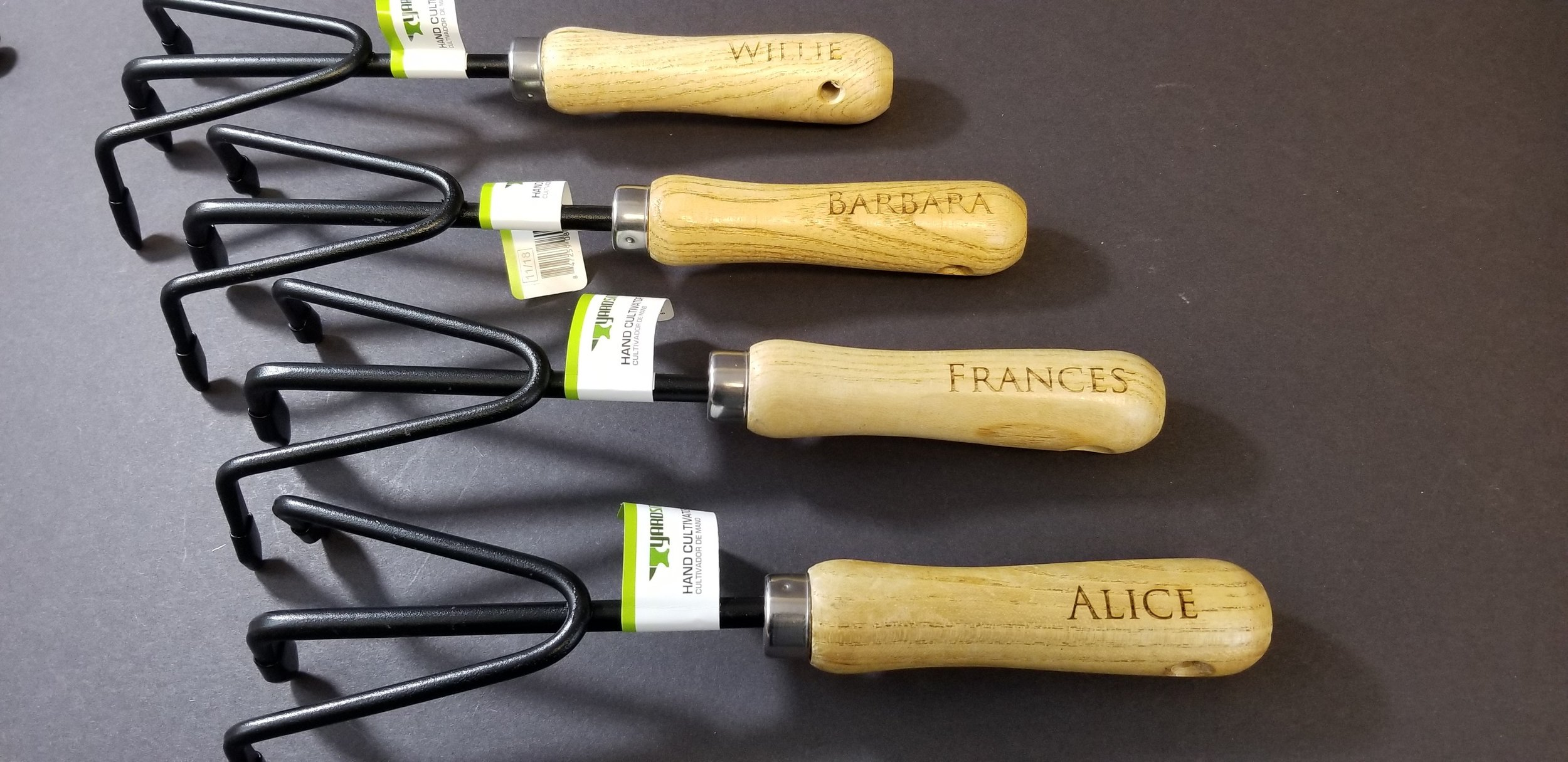 Personalized Engraved Gardening Tools - Laser Engraved Gardening Tools - Personalized Gifts - Unique Gifts - Engrave It Houston