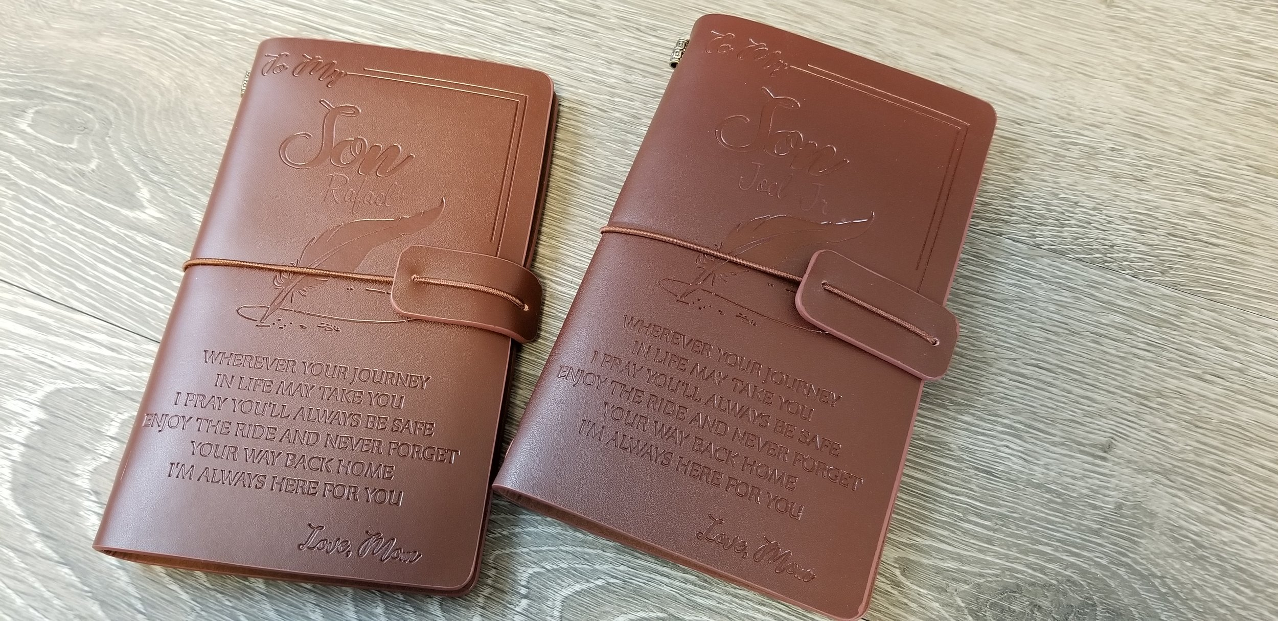 Engraved Leather Journal - Leather Engraving - Custom Engraving Services - Engrave It Houston