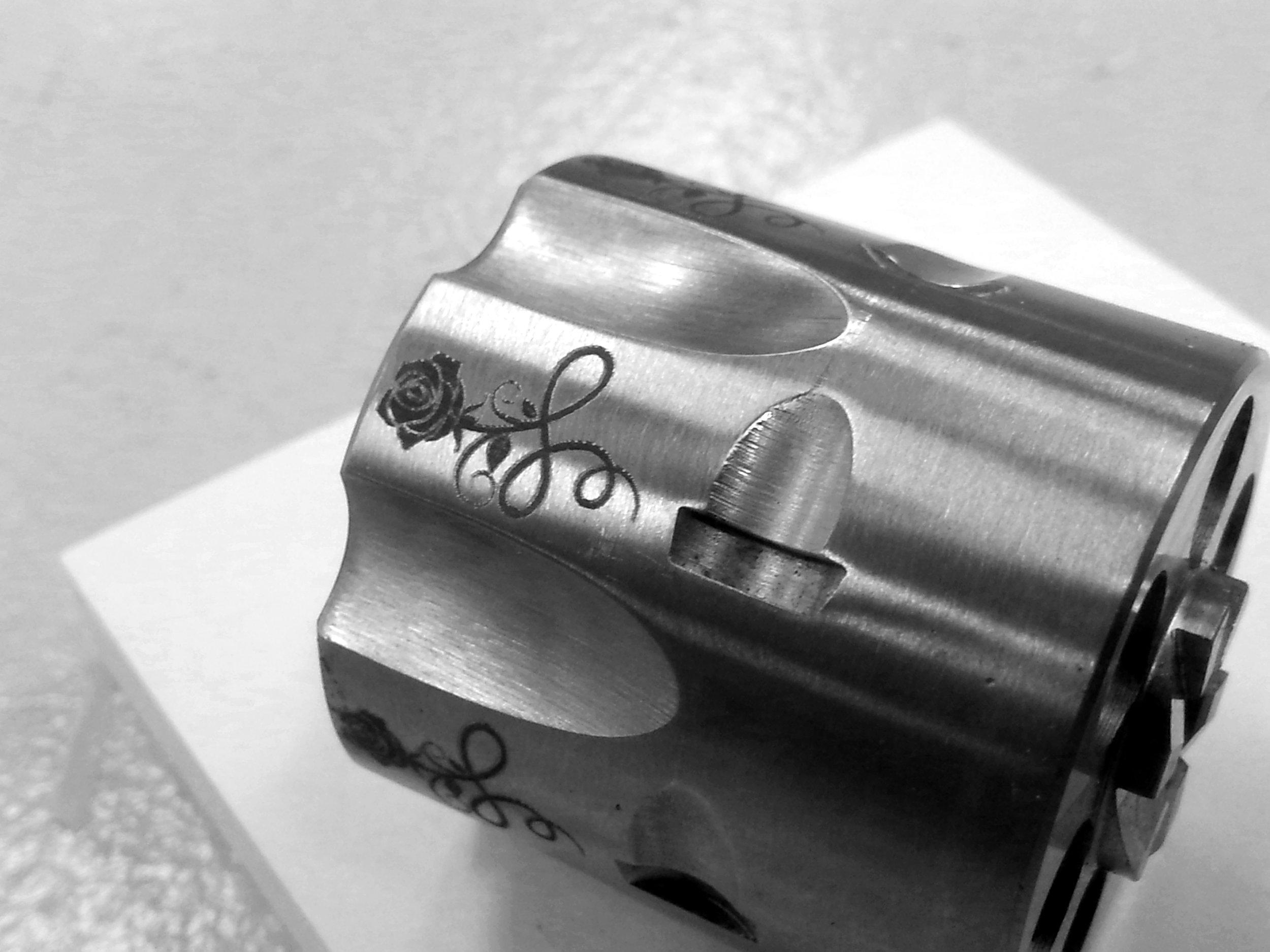 Custom Revolver Laser Engraving - Firearm Laser Engraving - Personalized Firearm Engraving - Personalized Revolver Engraving - Engrave It Houston