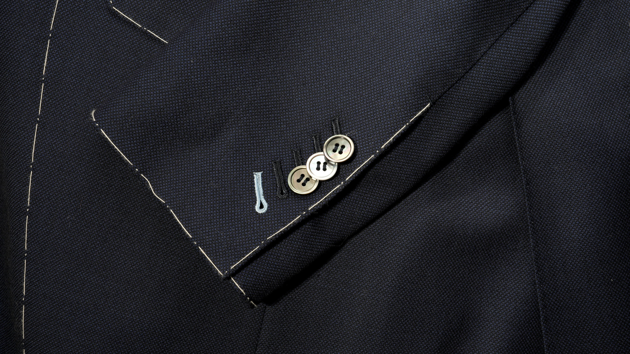 Surgeon's Cuffs - All our jackets feature functional sleeve buttons.
