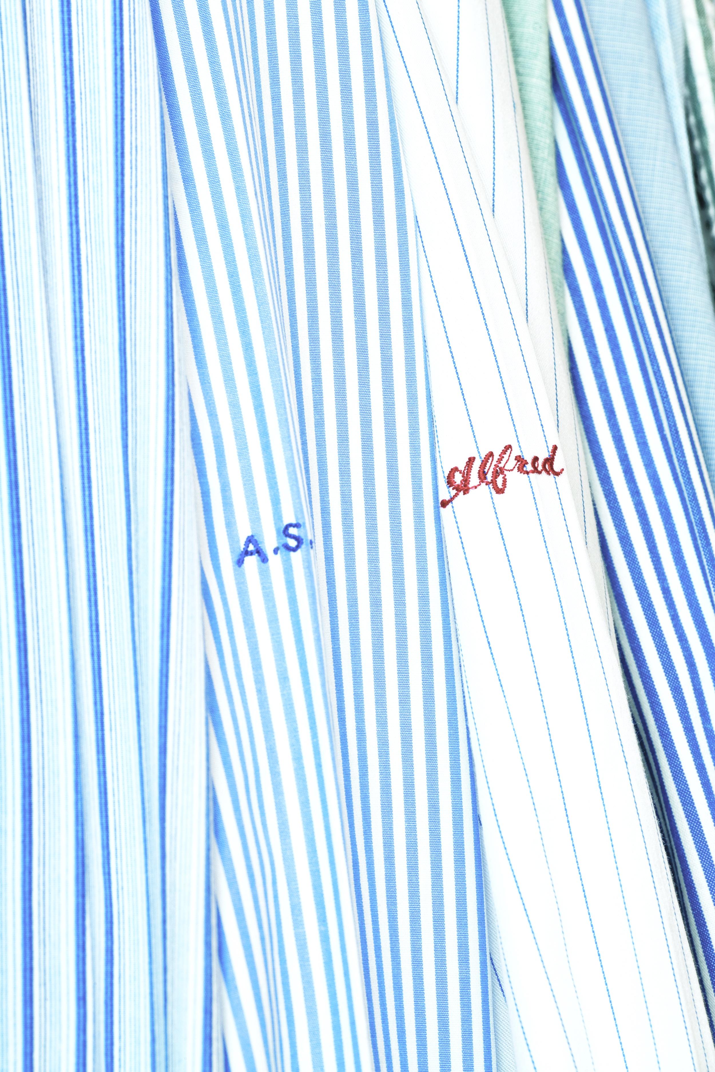 Alfred's shirt closet.