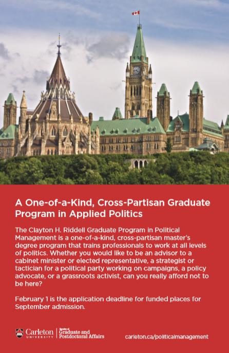 la Programme d'études supérieures en gestion politique de Clayton H. Riddell -