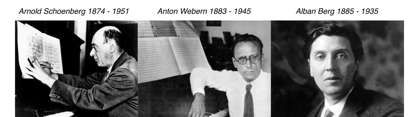 The composers who became known as the  2nd Viennese School  and developed serial techniques