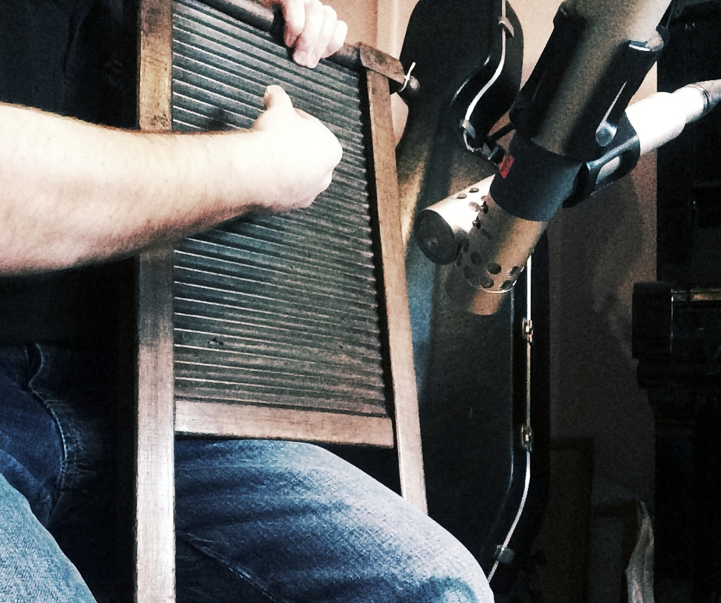 Recording the antique washboard for  Parlour Games