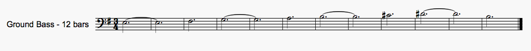 …and the 'ground bass' from the same piece is 12 bars, which is of course divisible by 3.