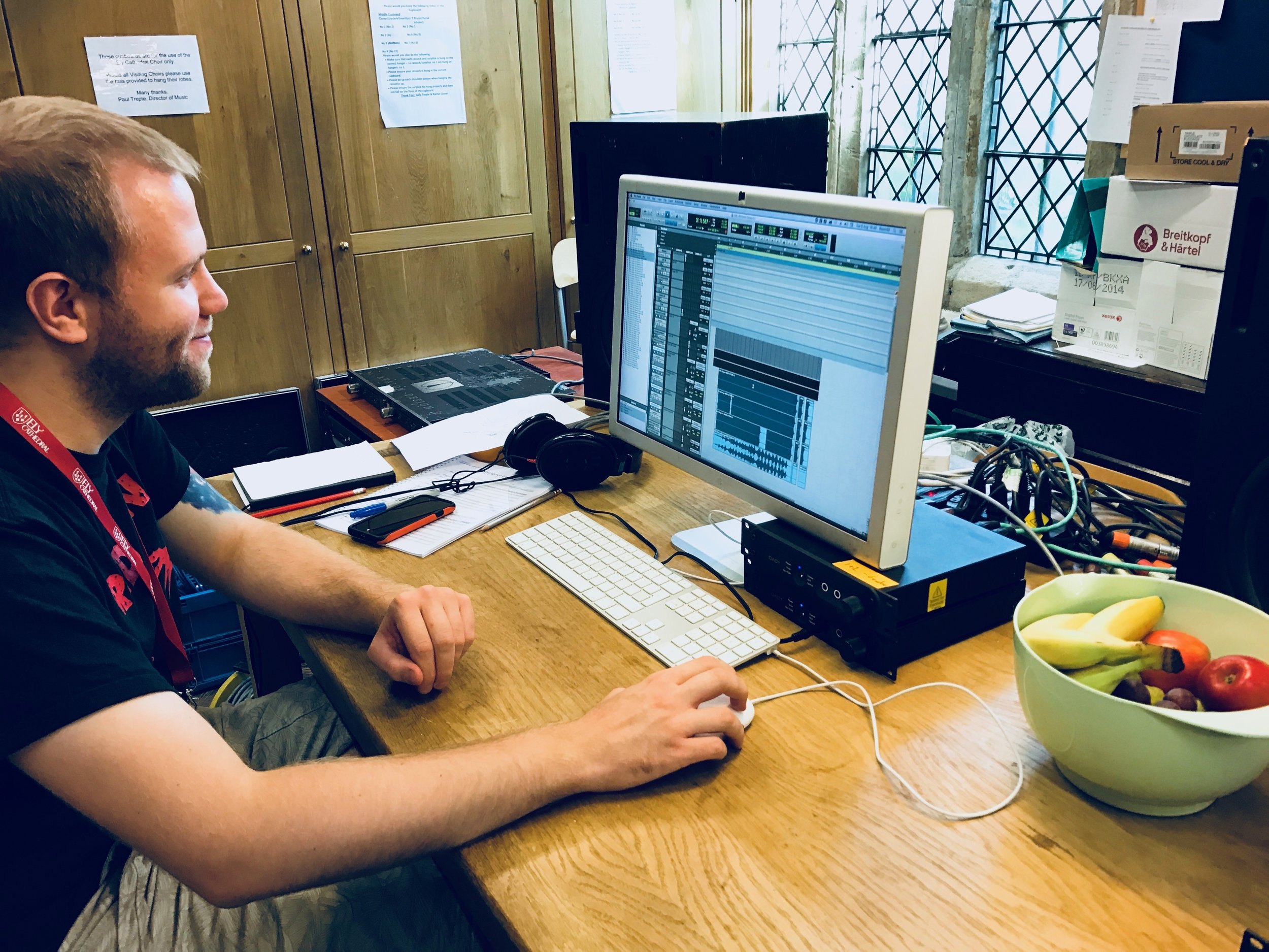 A 'pop-up' control room in the vestry