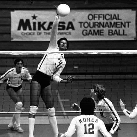 Flo Hyman  U.S. National Team Member, 1st female scholarship athlete at the University of Houston. Three time All-American. 1984 Silver Medalist. 1976 National Player of the Year.