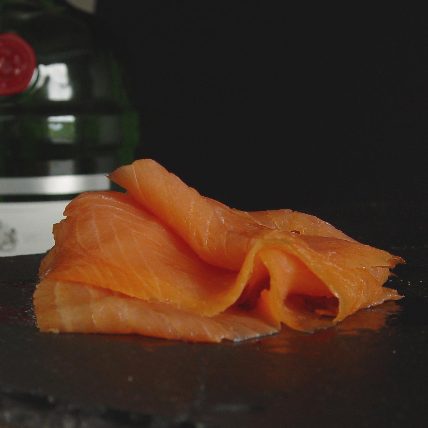 Tanqueray Gin Smoked Salmon