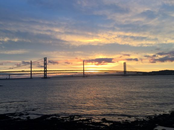 Queensferry - Firth of Forth Bridge at Sunset approximately 10:30 pm