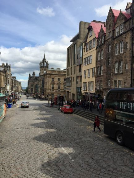 Royal Mile was built on lava flow and goes from Holyrood Castle to Holyrood Palace