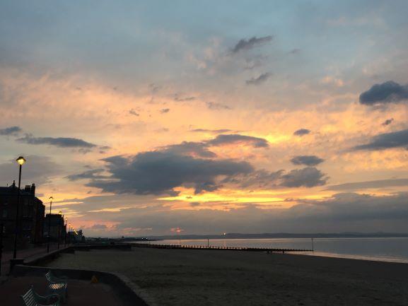 Sunset on Portobello Beach June 14, 10pm