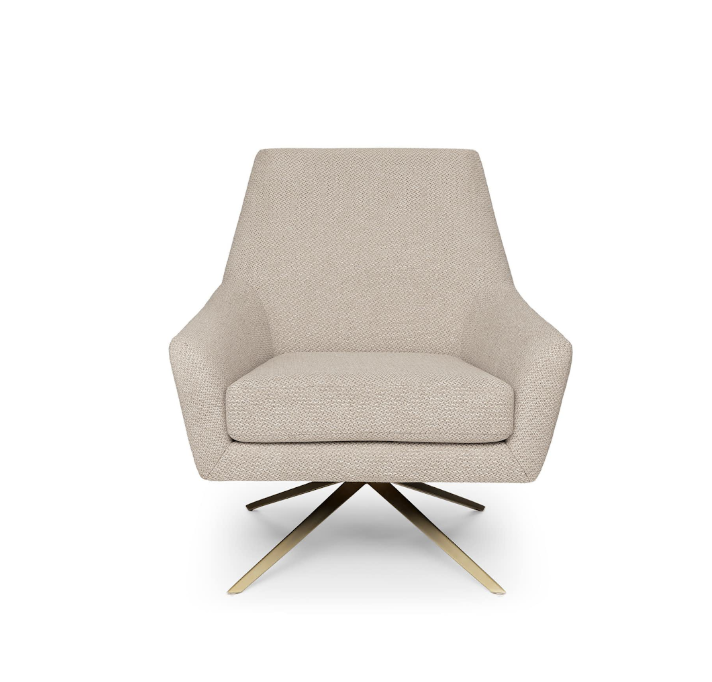 Price: $499    Pros: The ability of this chair to swivel makes switching between desk and accent chair super easy!     Cons: Some people think swivel chairs have too much of an office look for use in a living room, but I personally don't have a problem with it.