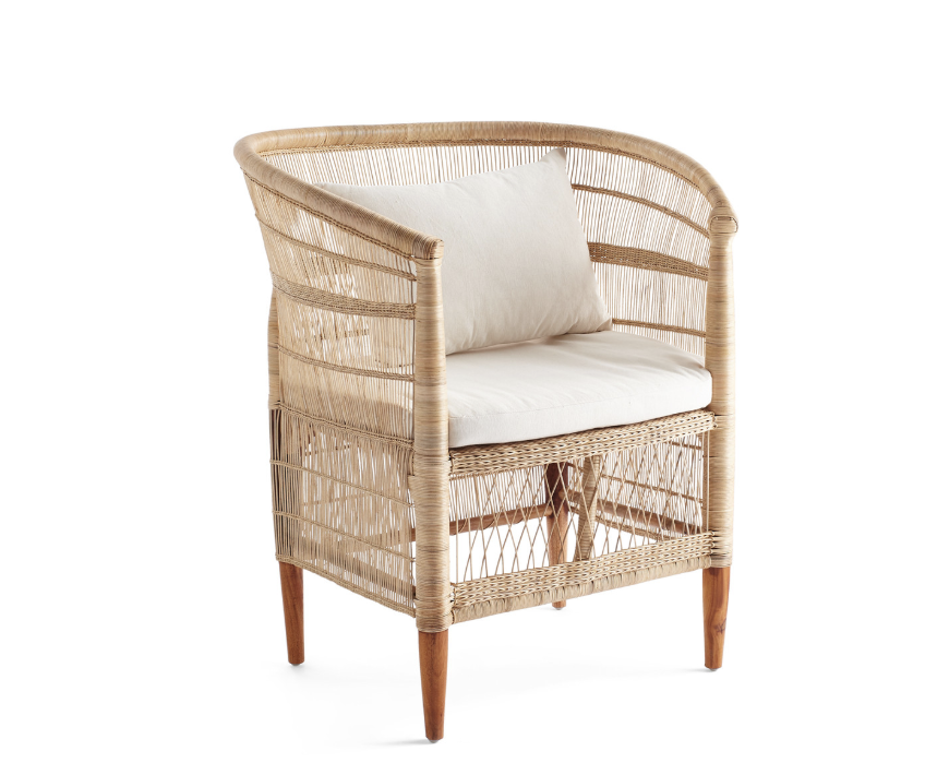 Price: $399    Pros: The seat on this chair is nice and high, great for working at a desk.     Cons: This is an indoor/outdoor chair, and some people may feel the look is too summery for year-round indoor use.