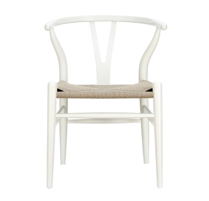 Price: $149    Pros: This is the same style of chair that I use at my console desk behind my living room sofa, so I can say from experience that's it's very comfortable and great for working at a computer.     Cons: Like option #1, this chair has more of a dining room feel and might not be substantial enough alongside the sofa to truly multitask as an accent chair.