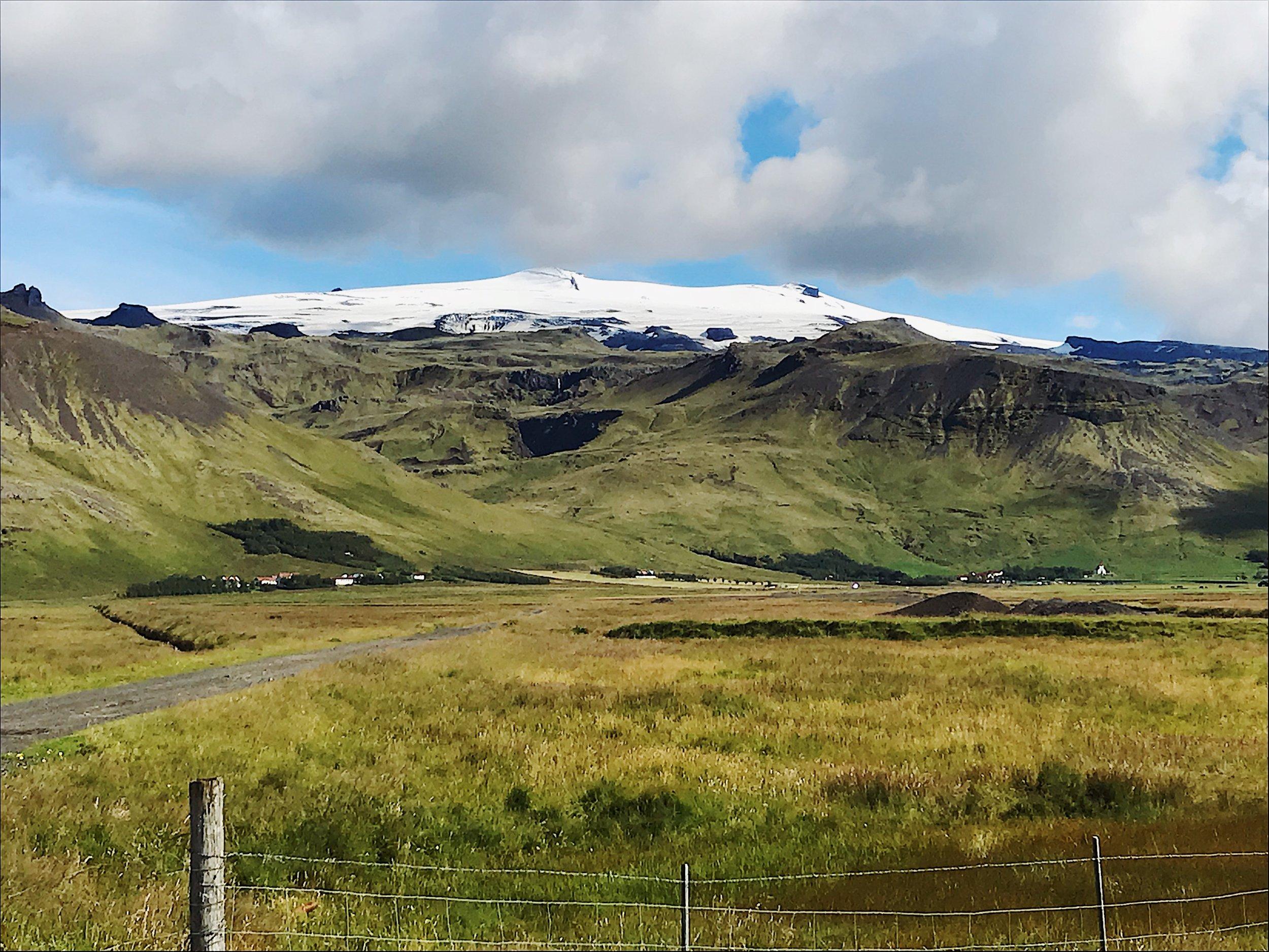 Solheimajökull Glacier in the distance