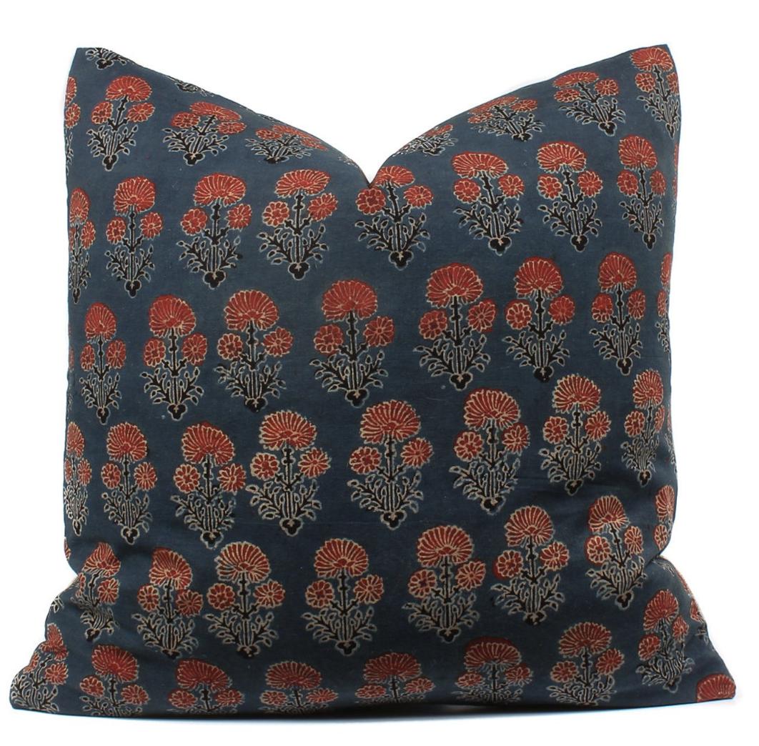 Indian Block Print Pillow from  Boho Pillow