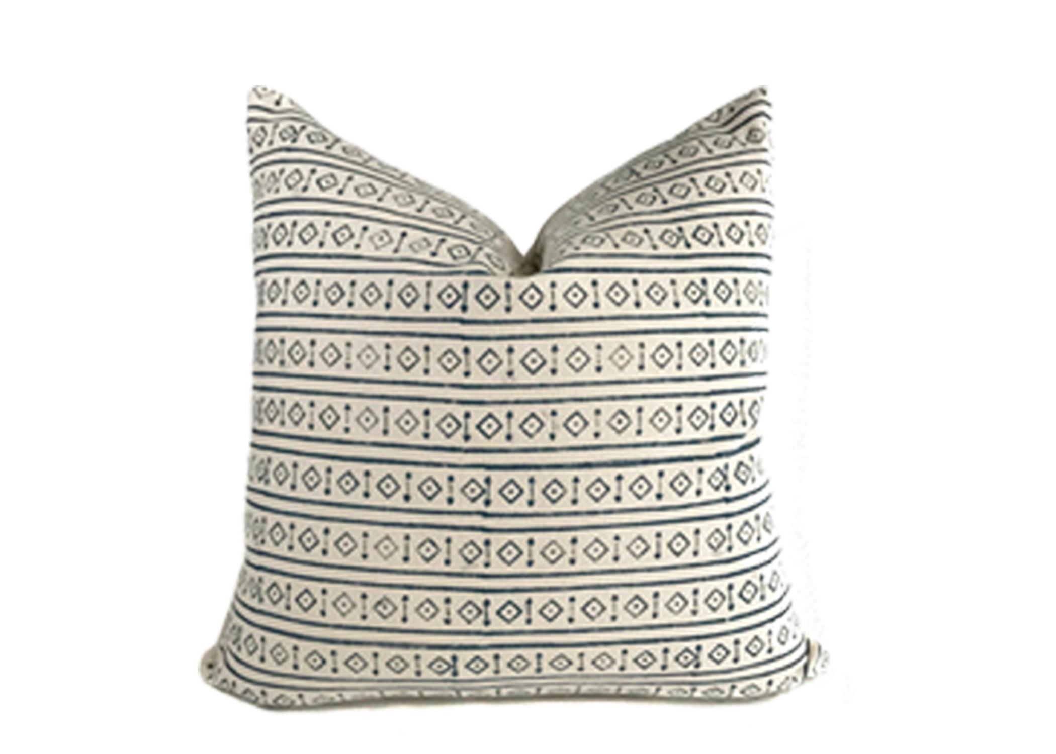 Dark Blue & Cream Geometric Pillow from O ne Affirmation