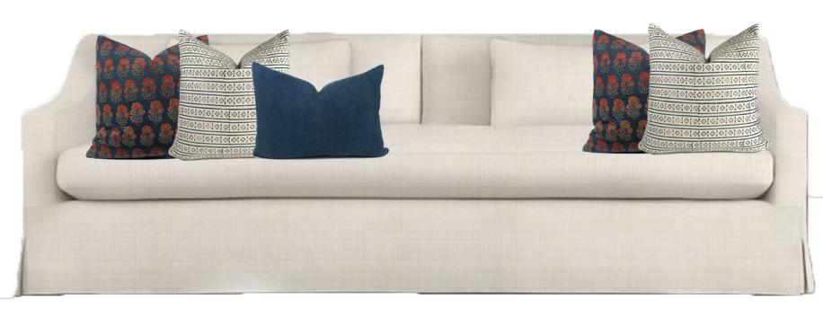 RH Belgain Slope Arm Sofa