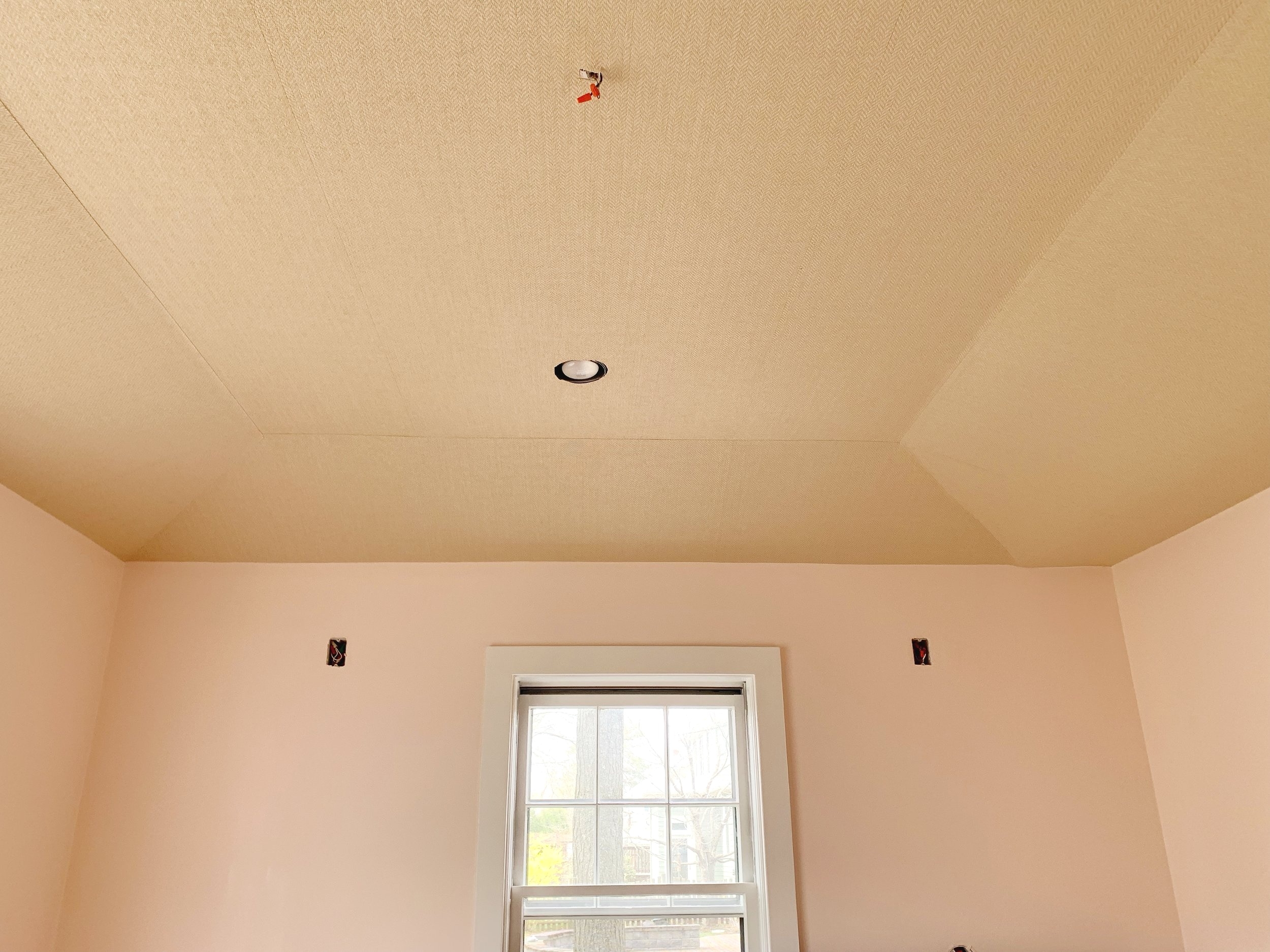 grasscloth ceiling