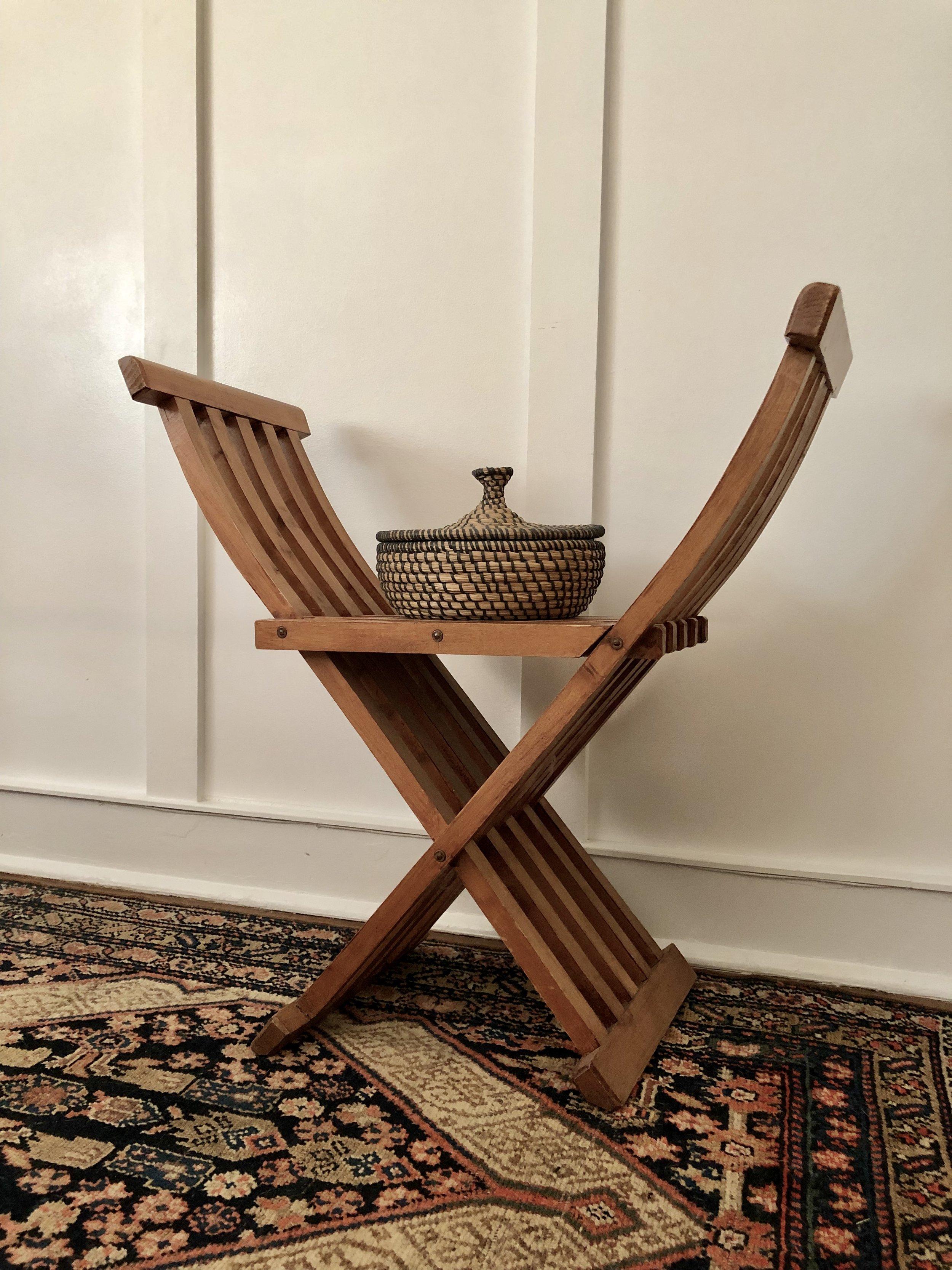 x-frame chair