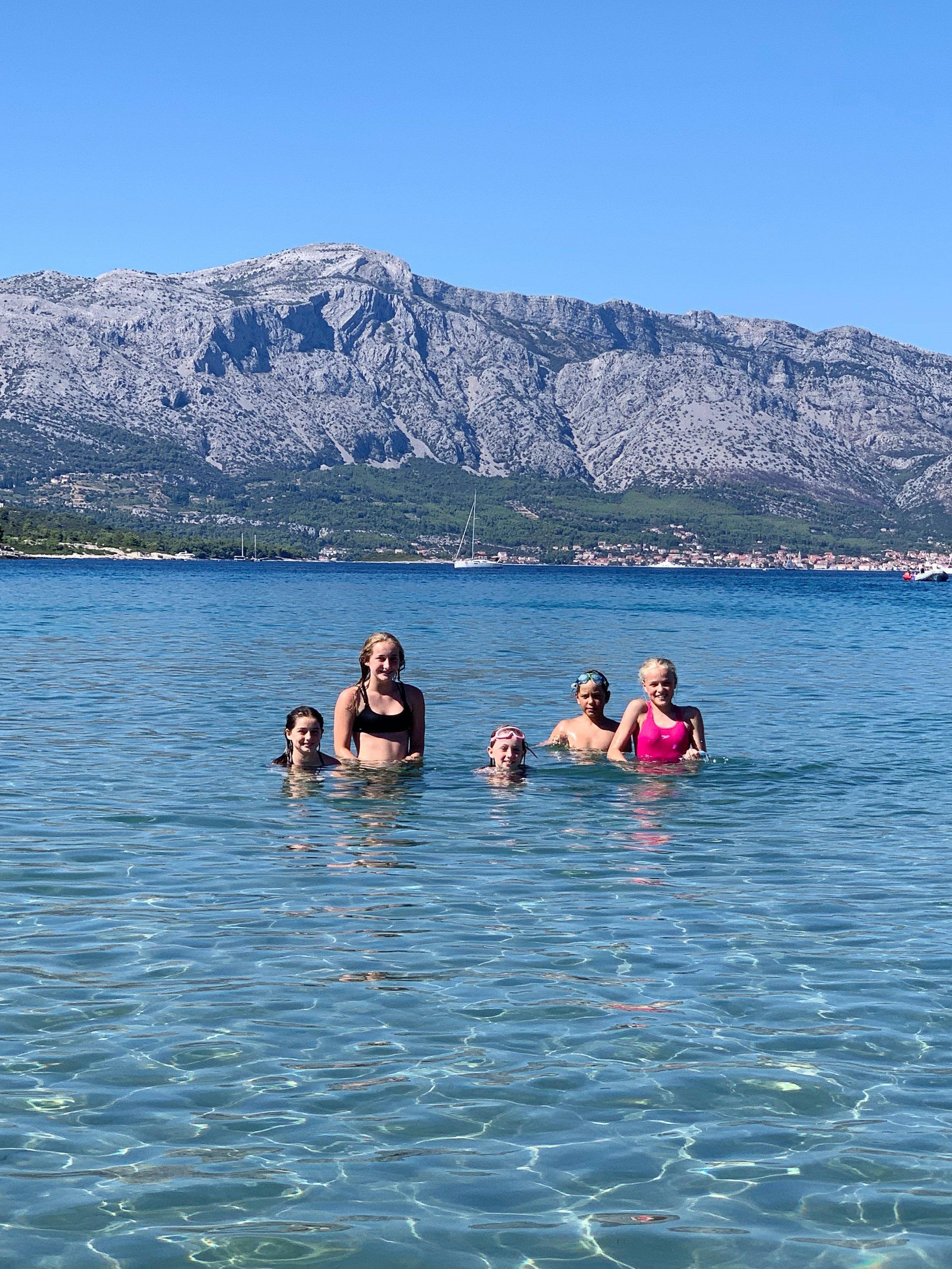 Always a time…and a place..for a swim in Croatia! Lumbarda Beach, Korcula, Croatia.