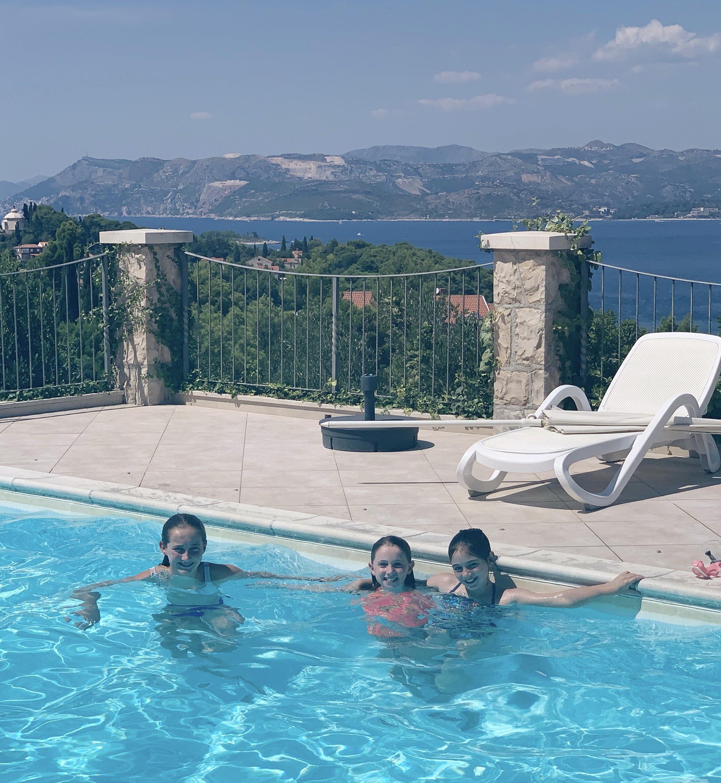 The pool at Villa Alegria, Cavtat