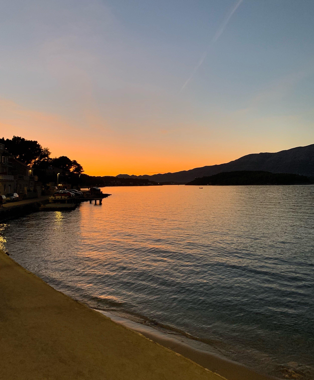 Sunset, Lumbarda, Croatia