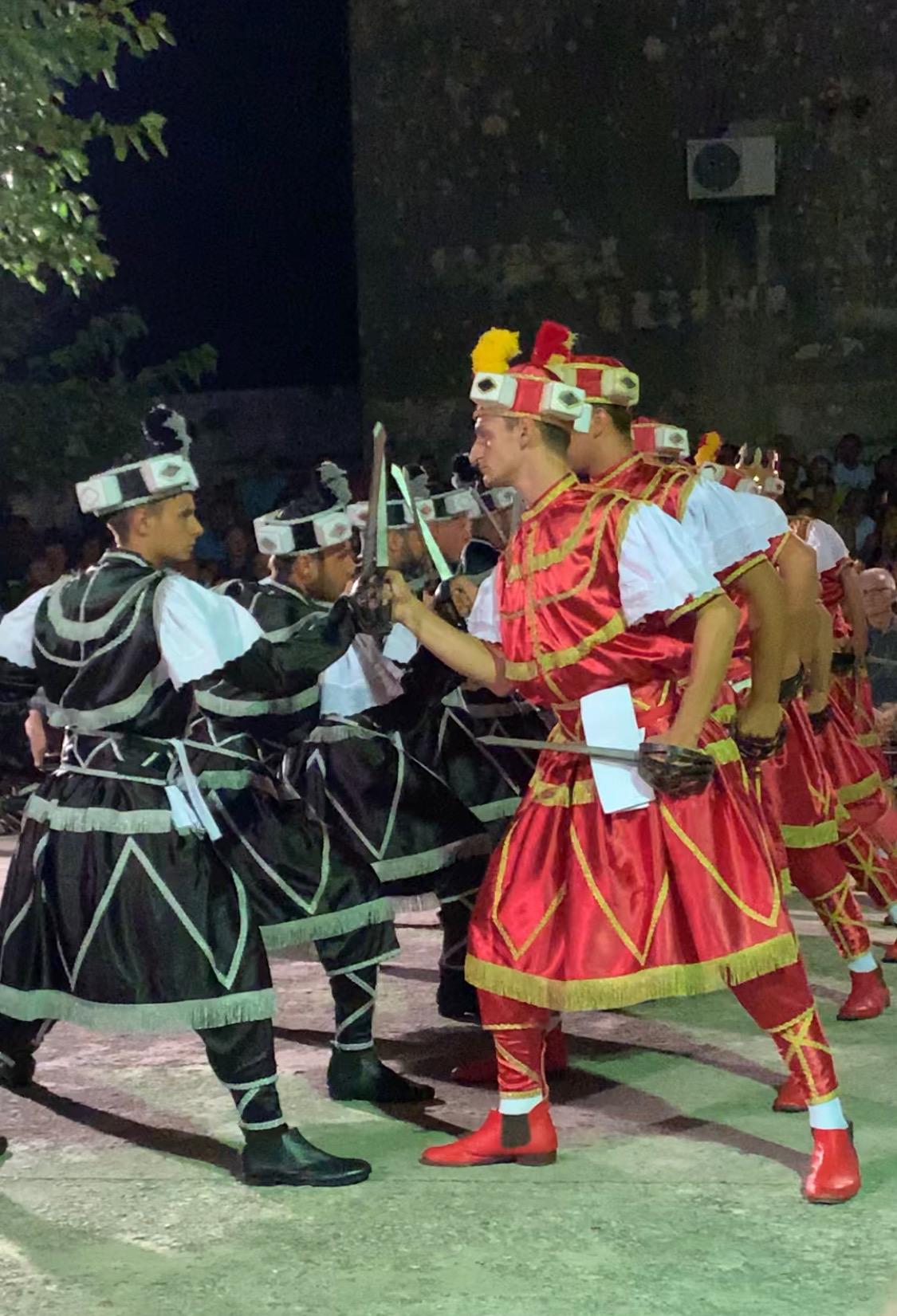 Moreska Korcula. The traditional sword dance performed only in Korcula
