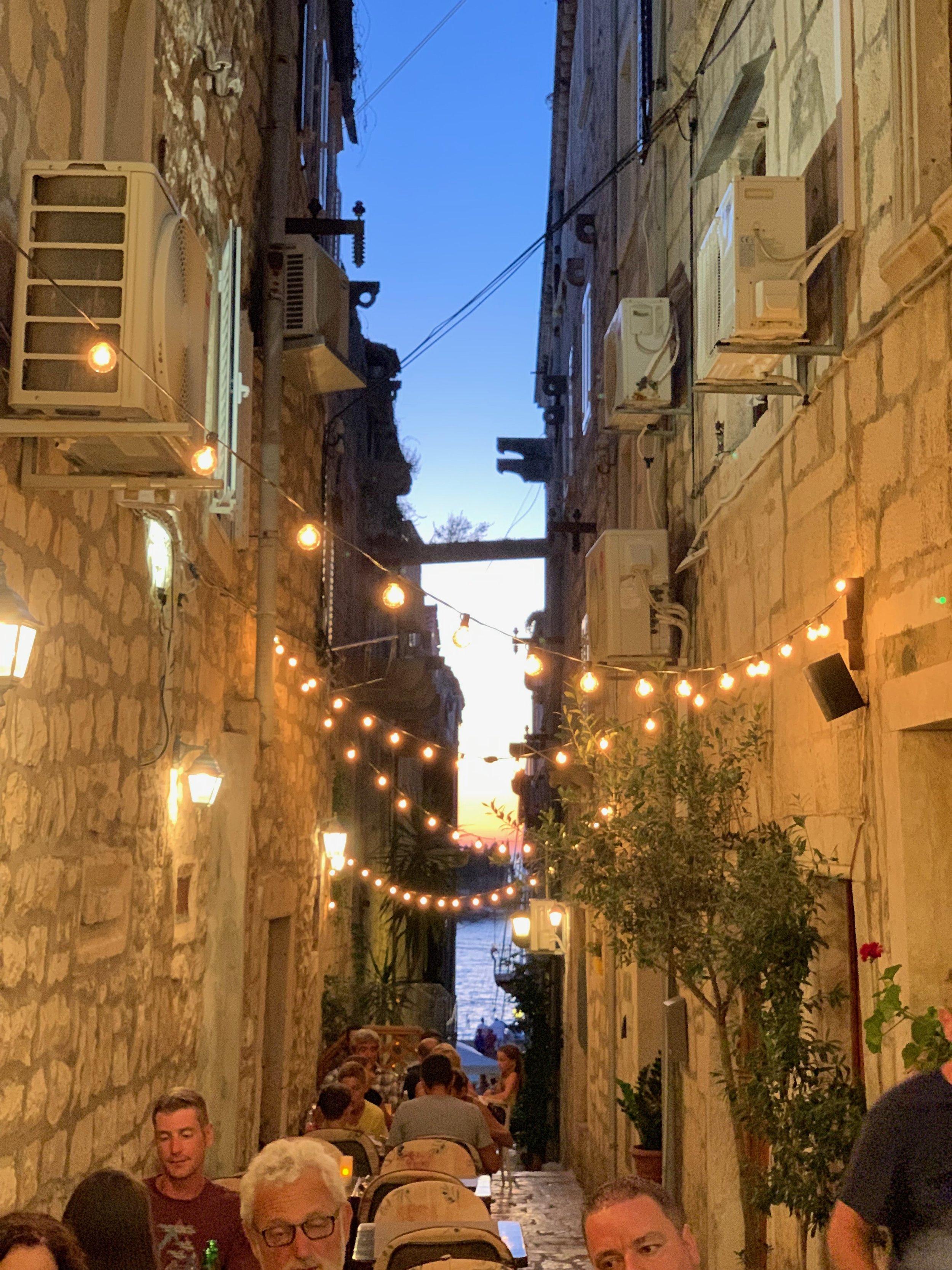 Narrow Alleyways in Old Town, Korcula