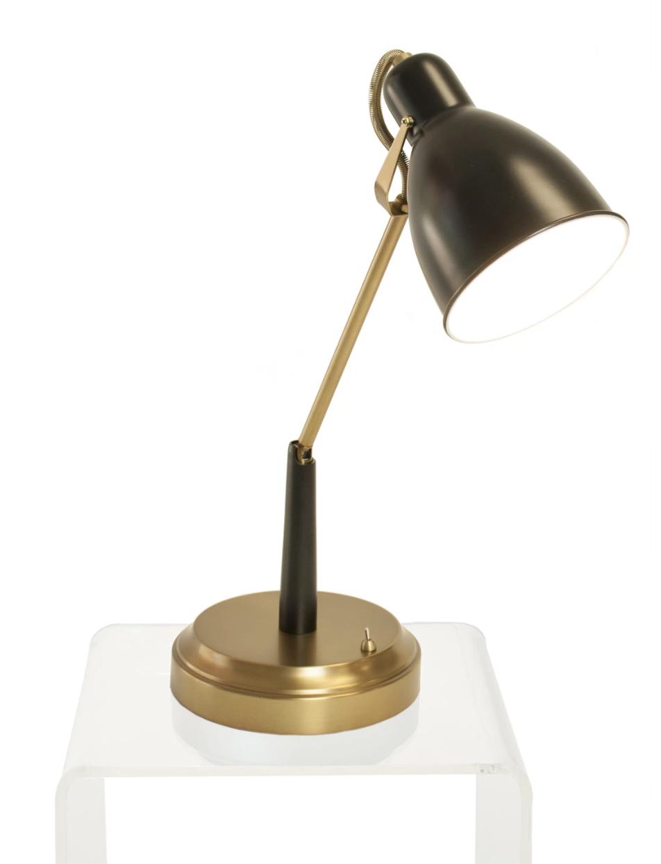 Modern Lantern's Oscar Cordless Task Lamp in Black & Antique Brass