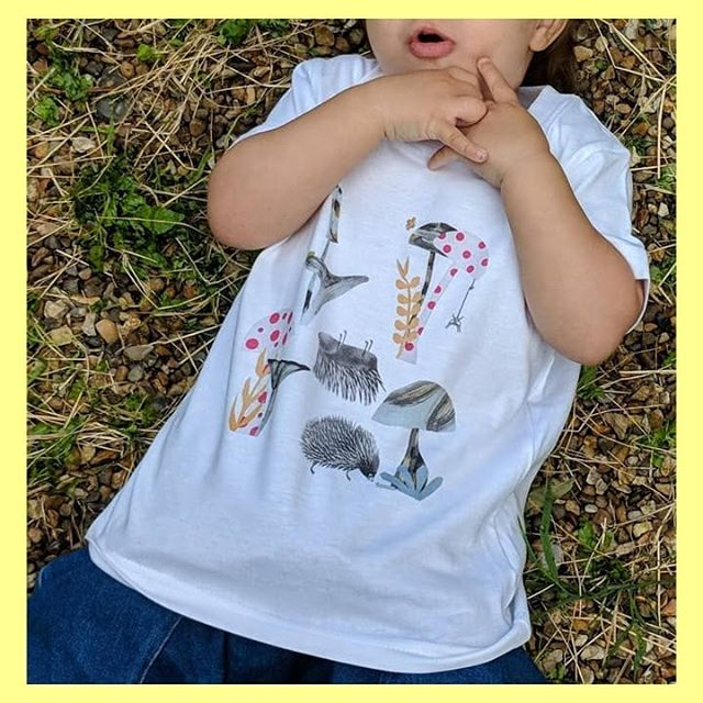 Bug t-shirt with ladybird mushrooms and back rubbing hedgehogs... 30% off with discount code 'christmas'...