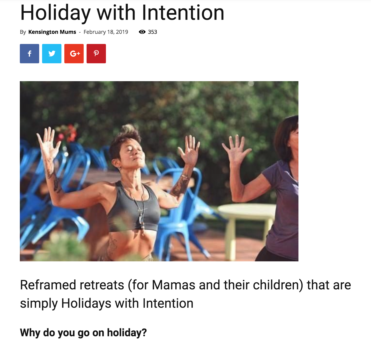 Read Article : Reframed Retreats