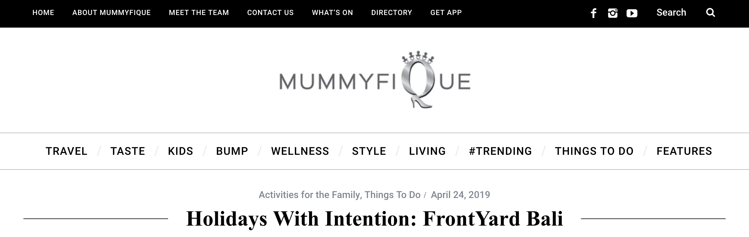 Read Article : Holidays With Intention