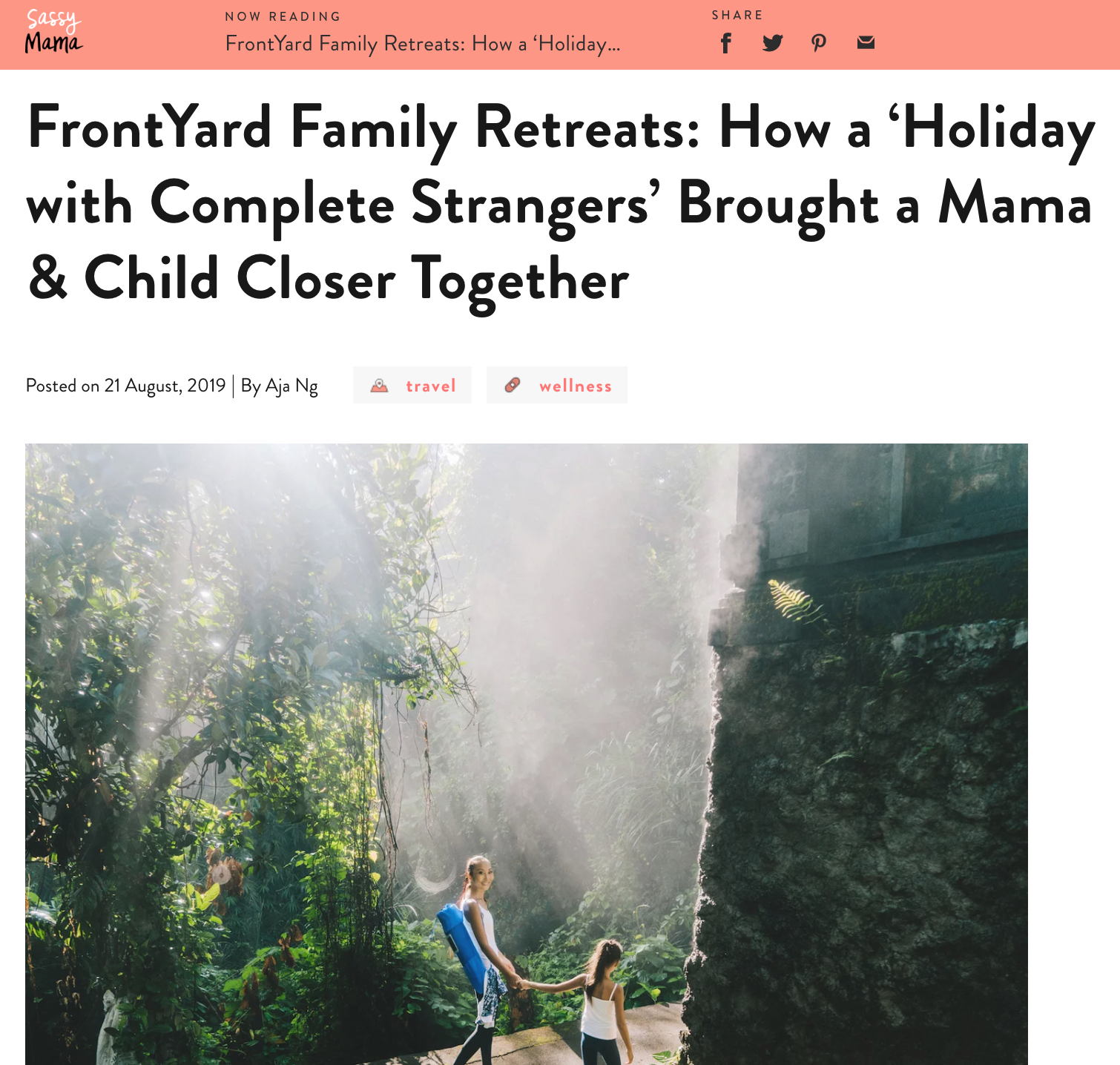 Read Article : How a Holiday with complete Strangers brought a Mama and Child closer together