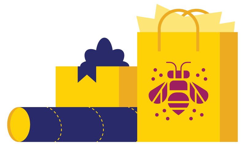 dECEMBER 1-2 & 5-7, 2018 - The bees are at it again, this time in a new location and only open on weekends! We are setting up shop in the Wonder / Co-work / Create space on Monroe. Like our previous pop-up we will be set-up like a retail store, while our friend's at the Wonder provide the co-working amenities for you like coffee, wifi, tables, couches, and more!