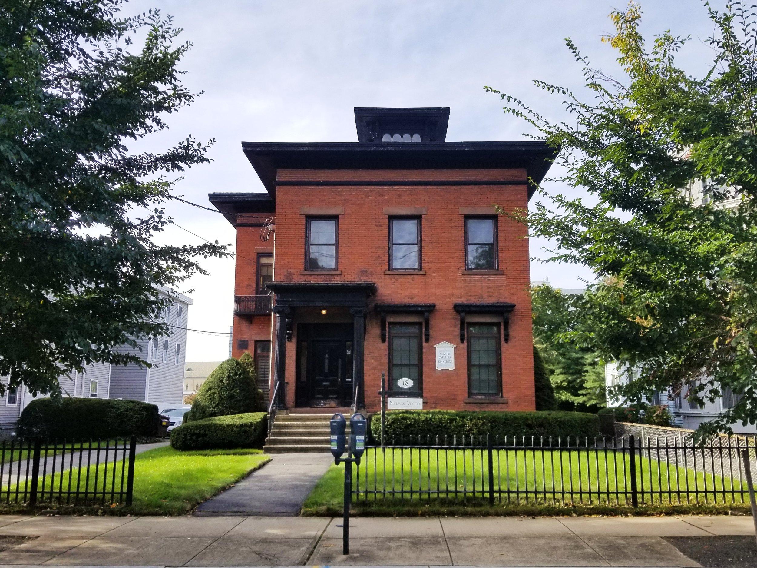 Lafayette B. Mendel House, 18 Trumbull Street. Architect: Henry Austin, 1858.