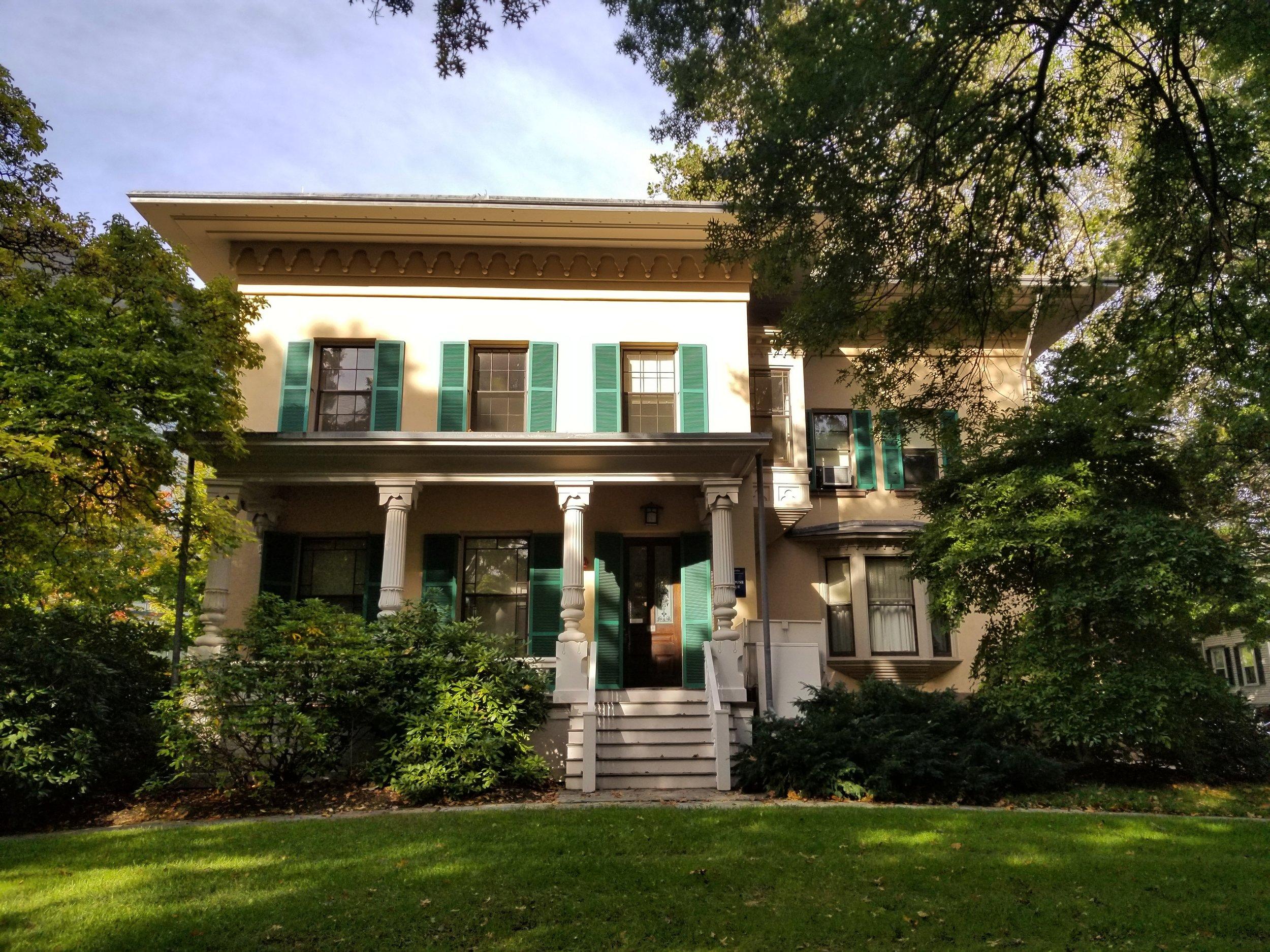 James Dwight Dana House, 24 Hillhouse Avenue. Architect: Henry Austin, 1849.